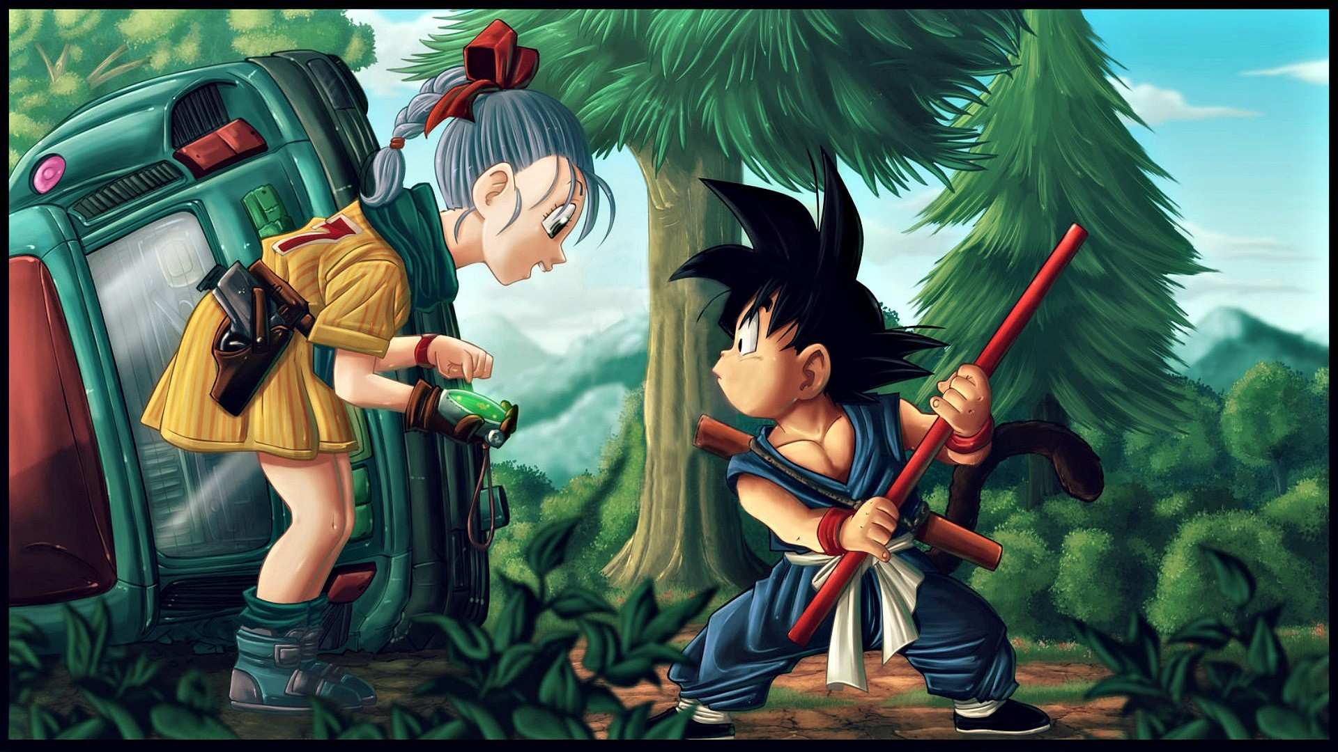 Free Bulma And Goku DBZ, computer desktop wallpapers, pictures, images
