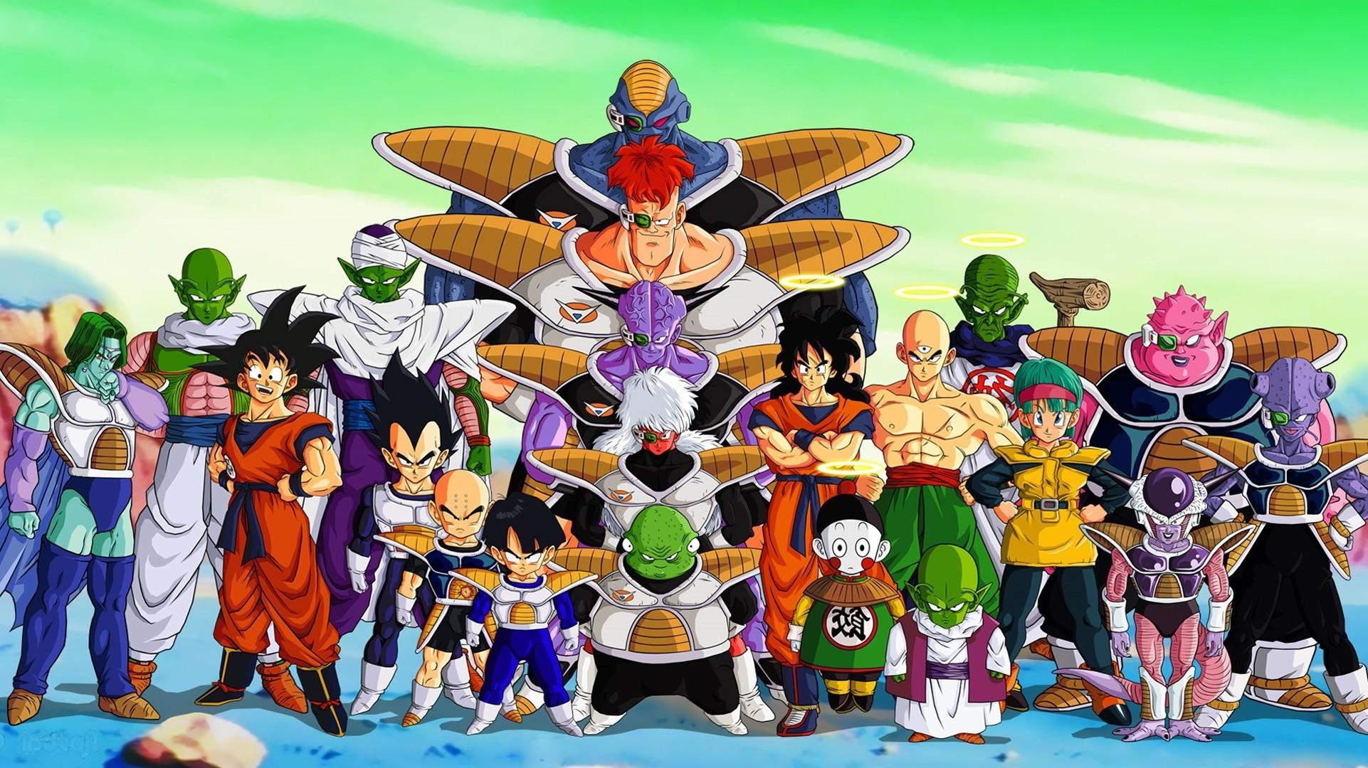 Dragon Ball Z, Krillin, Vegeta, Piccolo, Zarbon, Gohan, Ginyu Force
