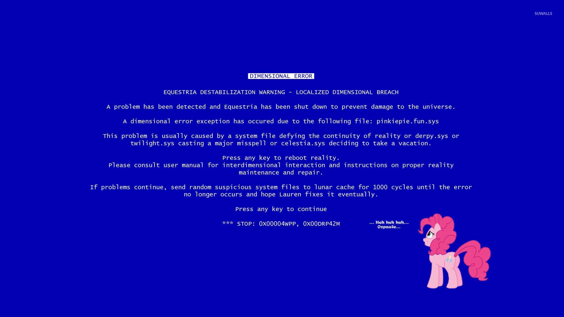 Dimensional error – My Little Pony wallpaper
