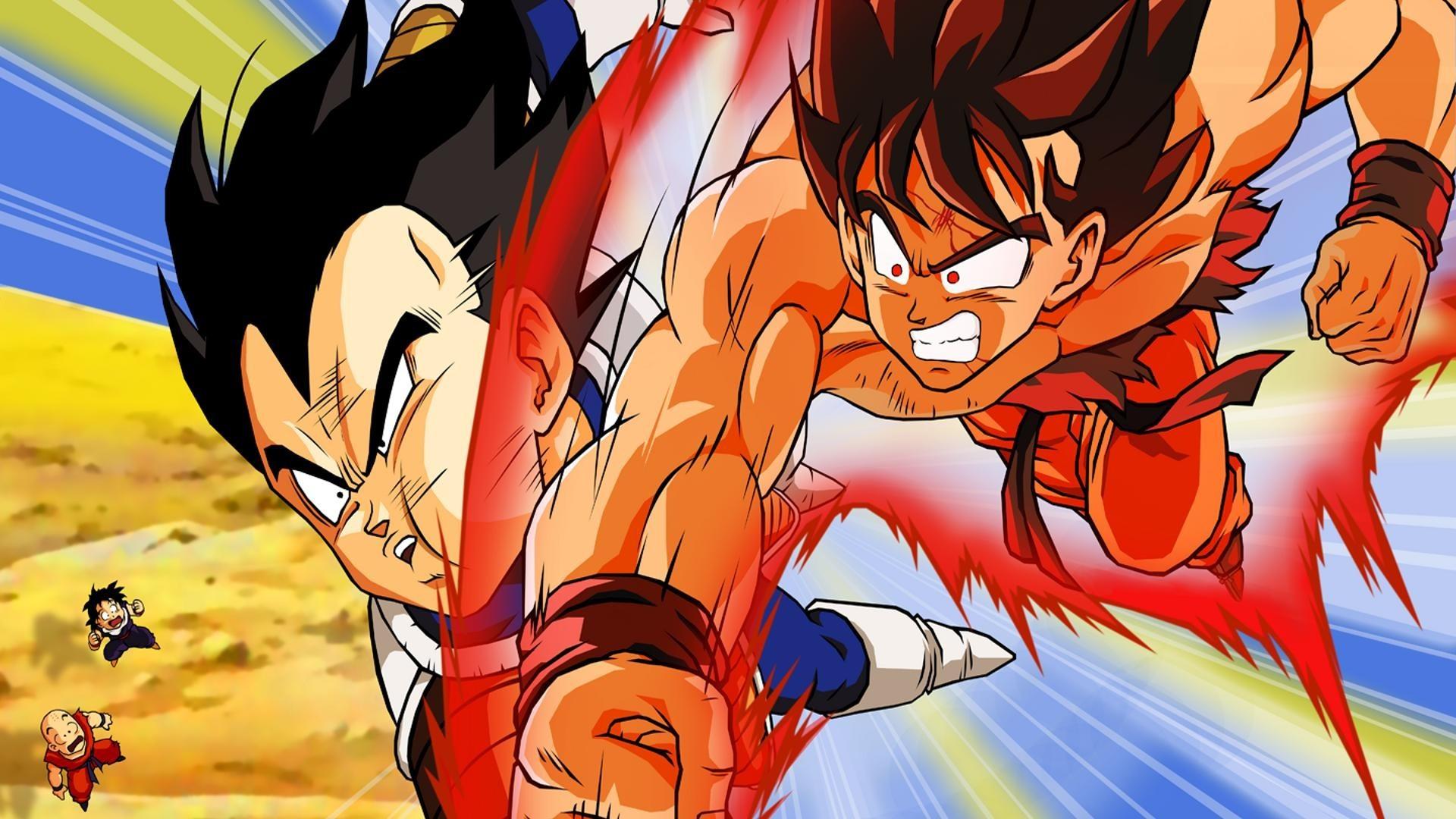 Dragon Ball Z Goku VS Vegeta Fighting wallpapers and Goku VS Vegeta  Fighting backgrounds for your computer desktop. Find Goku VS Vegeta  Fighting pictures …