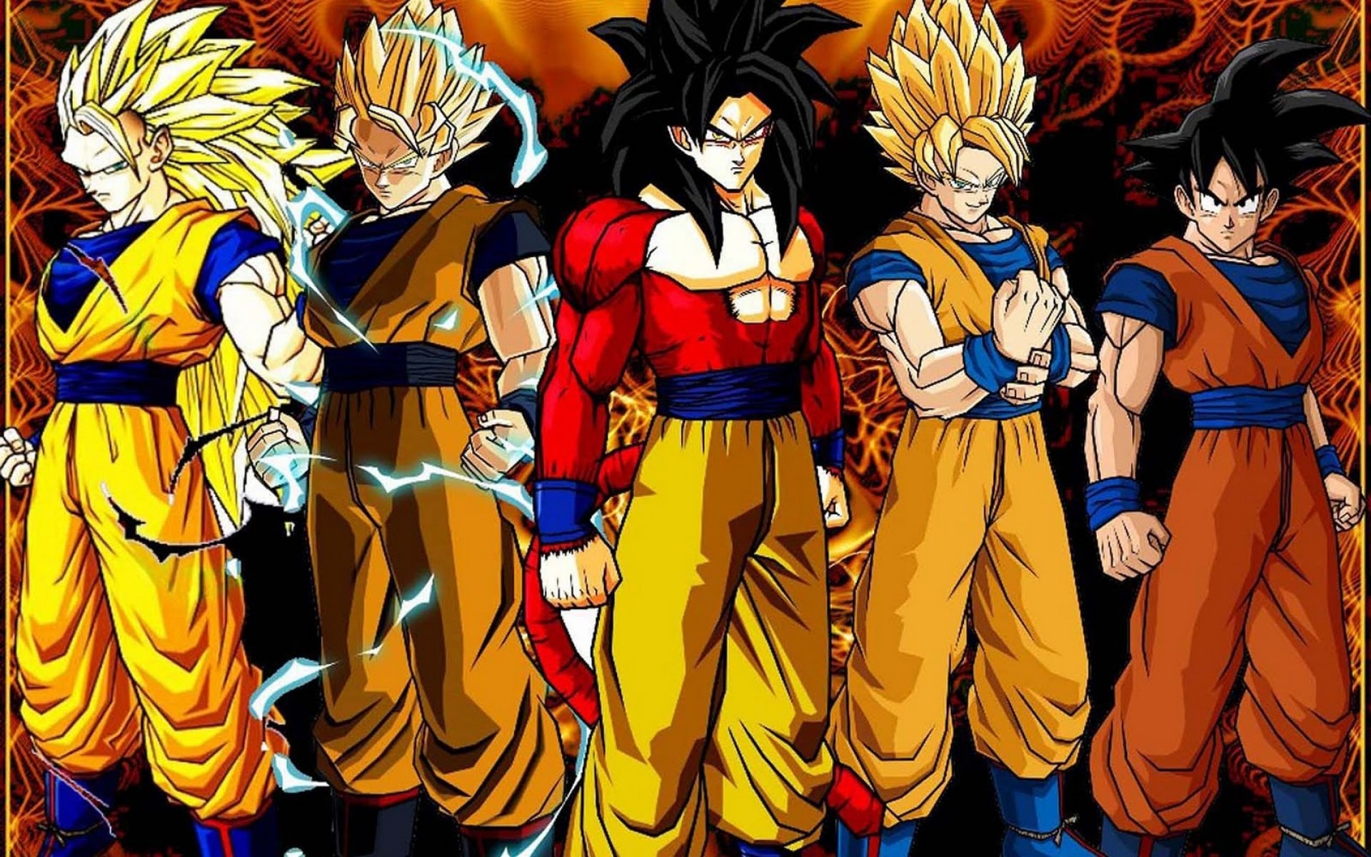 Dragon Ball Z Son Goku All Super Saiyan Form Wallpaper