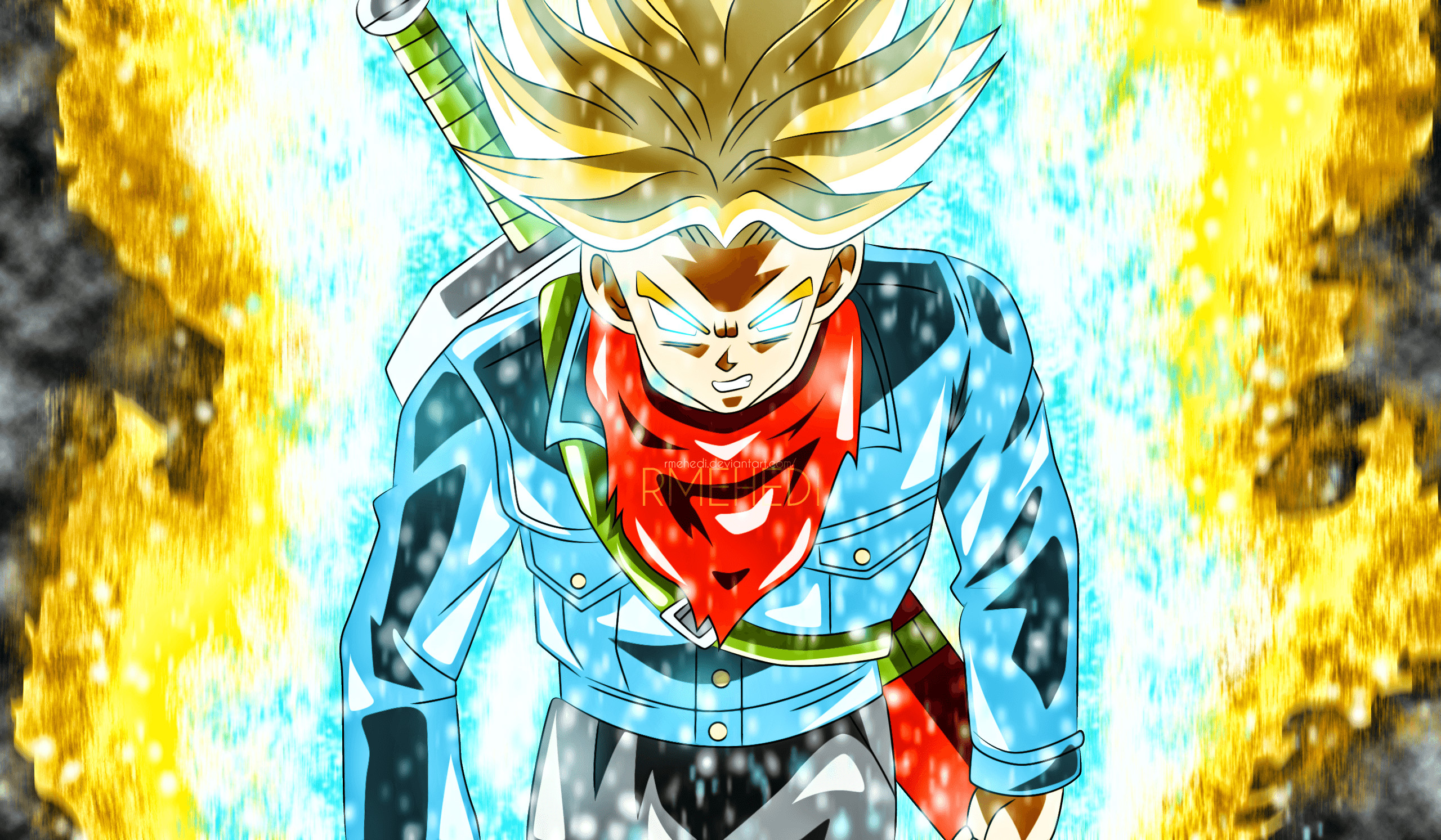 55 Trunks (Dragon Ball) HD Wallpapers | Backgrounds – Wallpaper Abyss