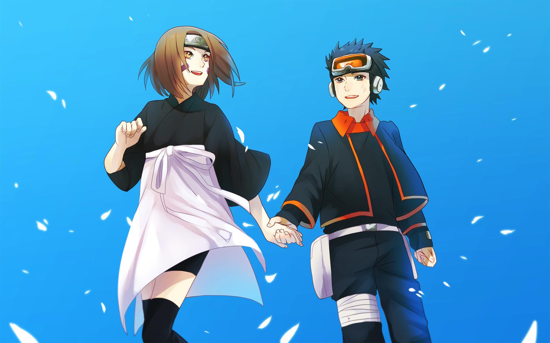 rin and obito uchiha anime hd wallpaper