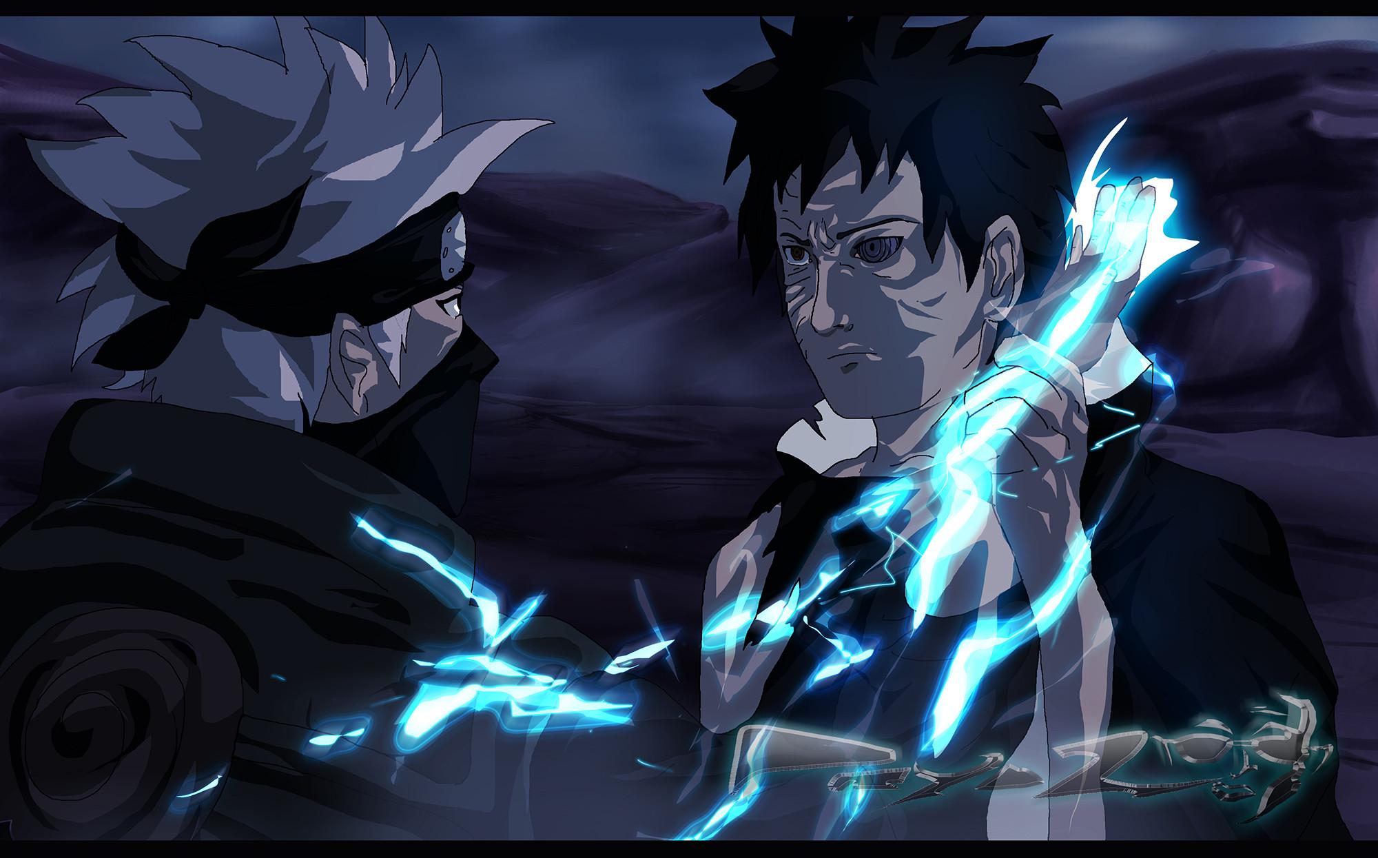 Kakashi Vs Obito 22903 Wallpapers   Naruto & Friends Wallpaper HD .