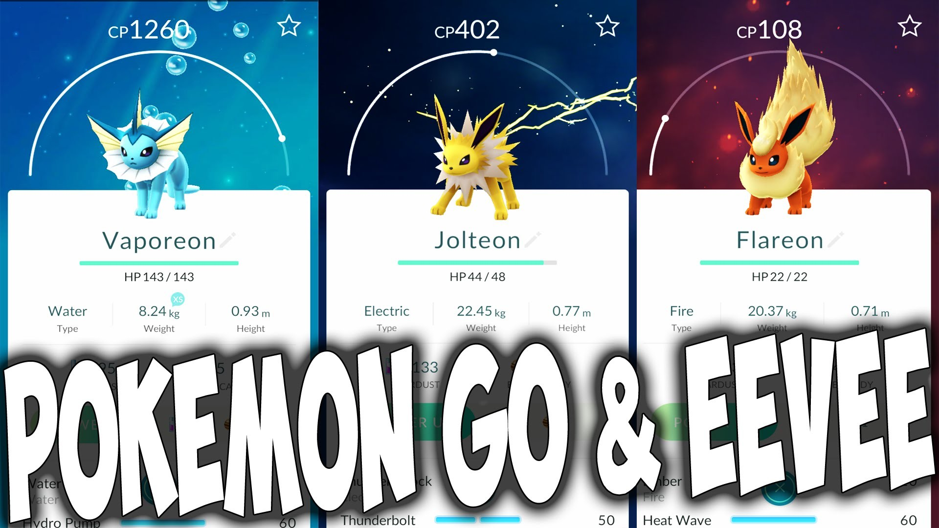 How To Evolve Eevee Into What You Want In Pokemon GO – Advanced Tips –  YouTube