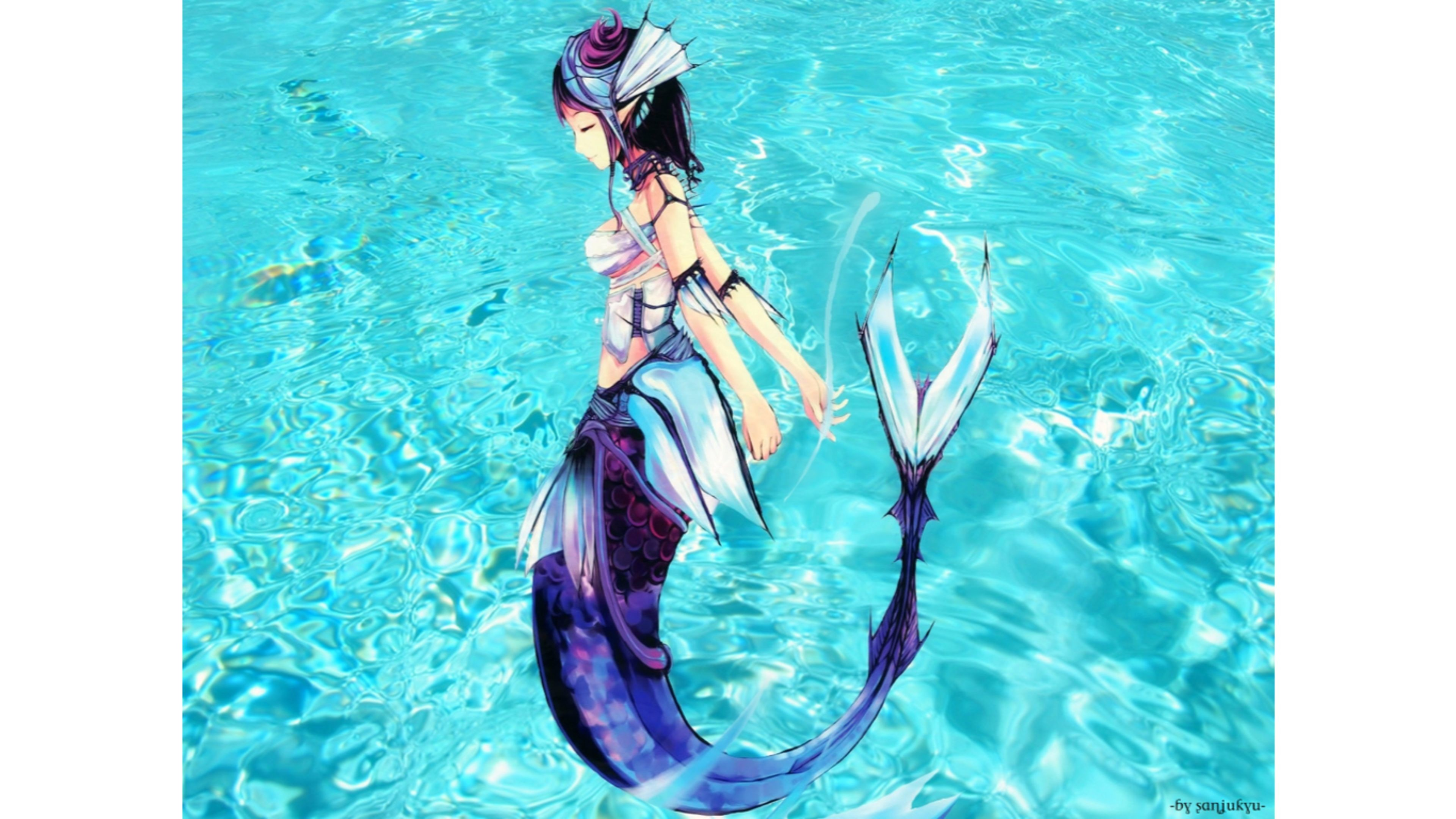 black mermaid wallpaper