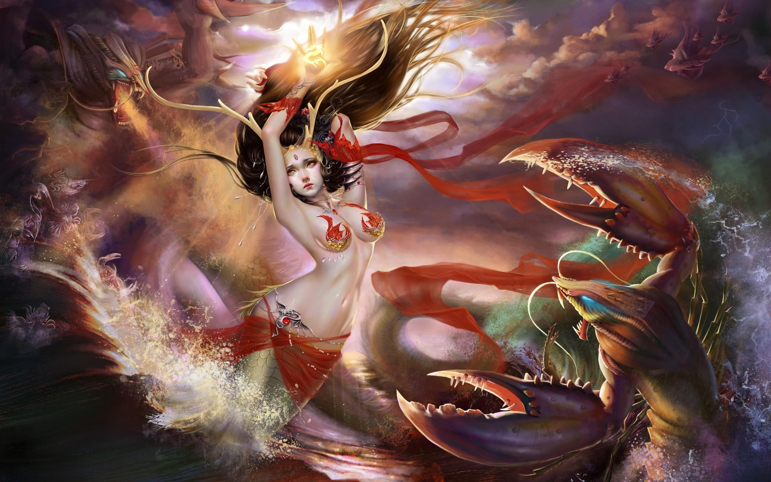 mermaids artwork   Mermaid Wallpaper – Wallpaper, High Definition, High  Quality .