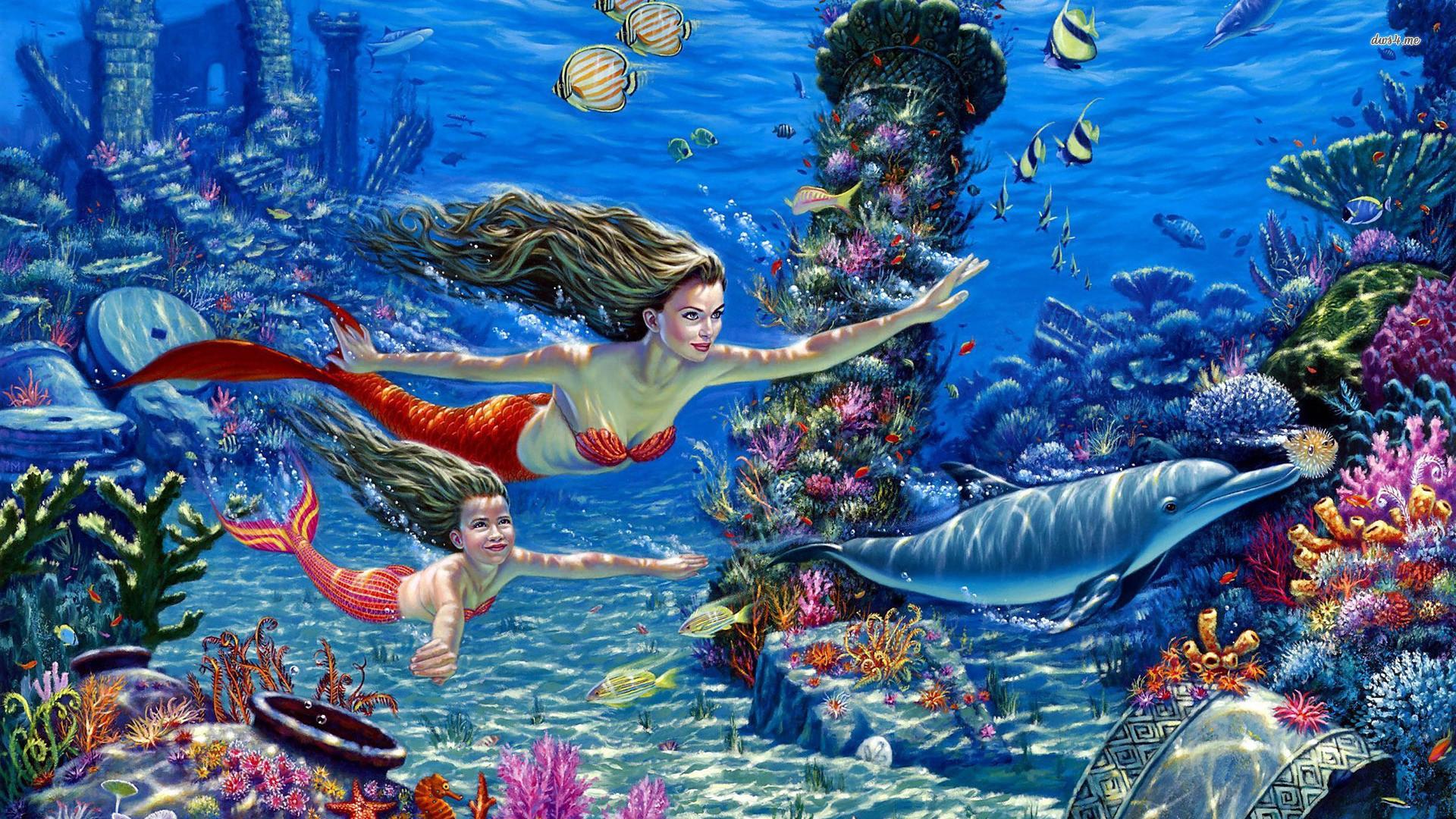 Cute Little Mermaid Wallpaper for Desktop (6)