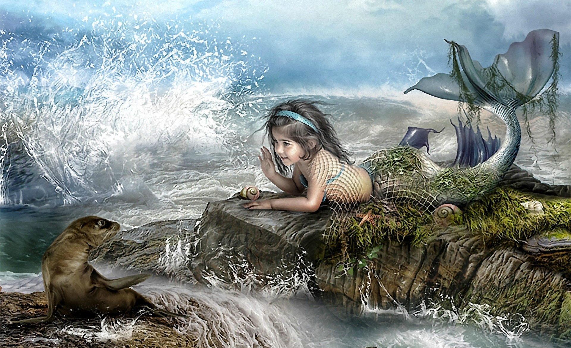 fantasy mermaid Wallpaper Backgrounds