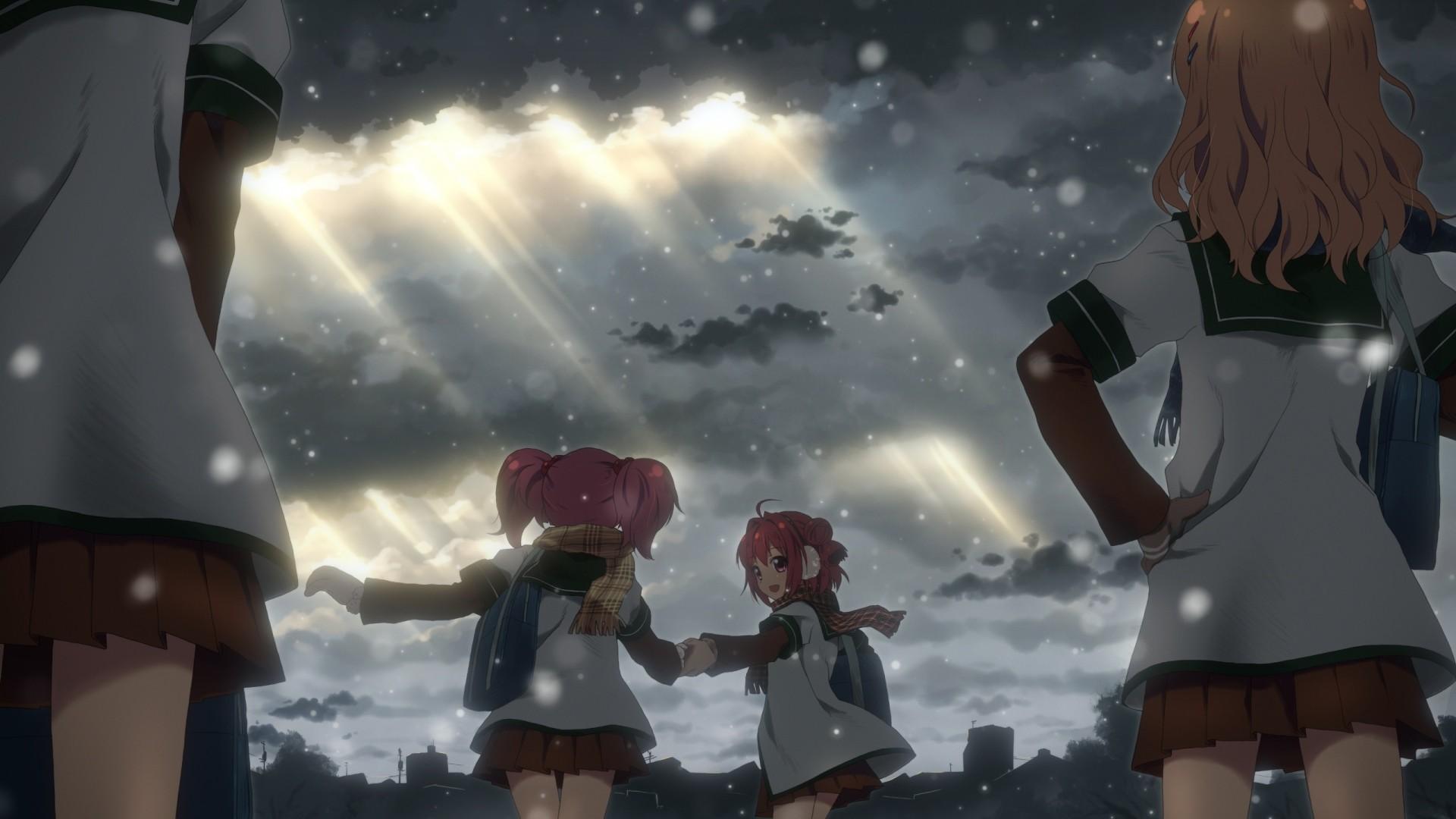 Wallpaper yuru yuri, girls, anime