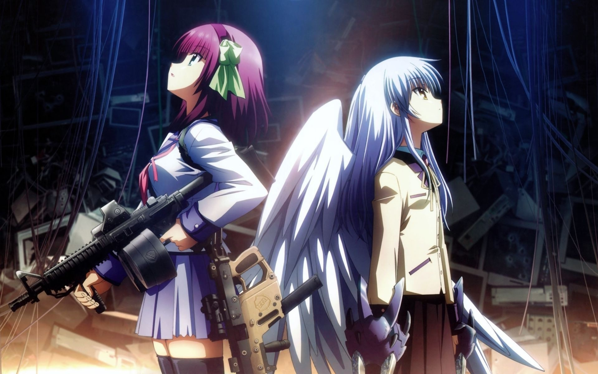 anime, Anime Girls, Angel Beats!, Tachibana Kanade, Nakamura Yuri Wallpapers  HD / Desktop and Mobile Backgrounds