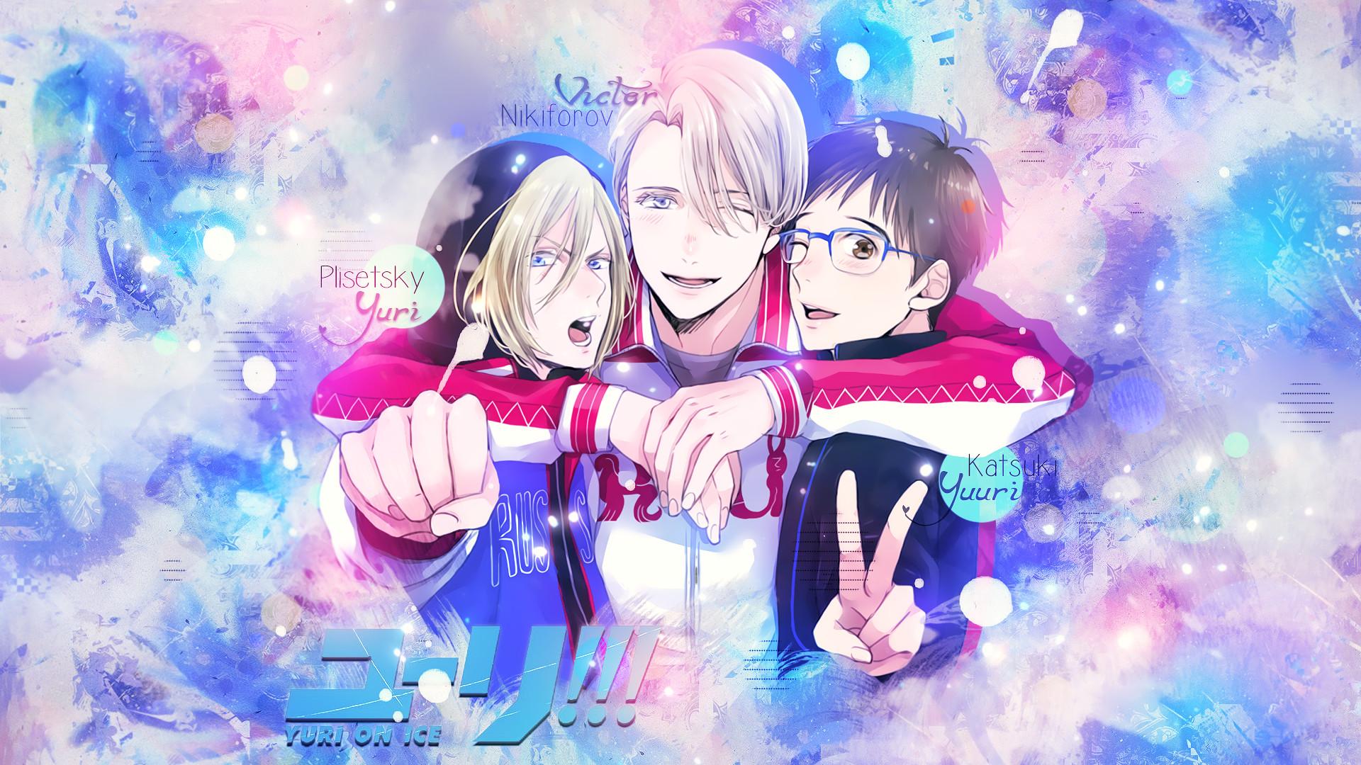 Anime – Yuri!!! on Ice Yuri Plisetsky Yuuri Katsuki Viktor Nikiforov  Bakgrund