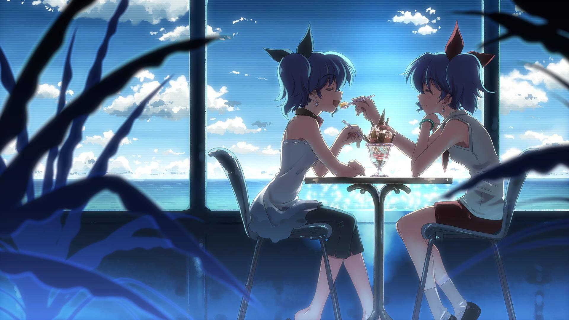 Romantic anime twins – Anime & Manga Wallpaper
