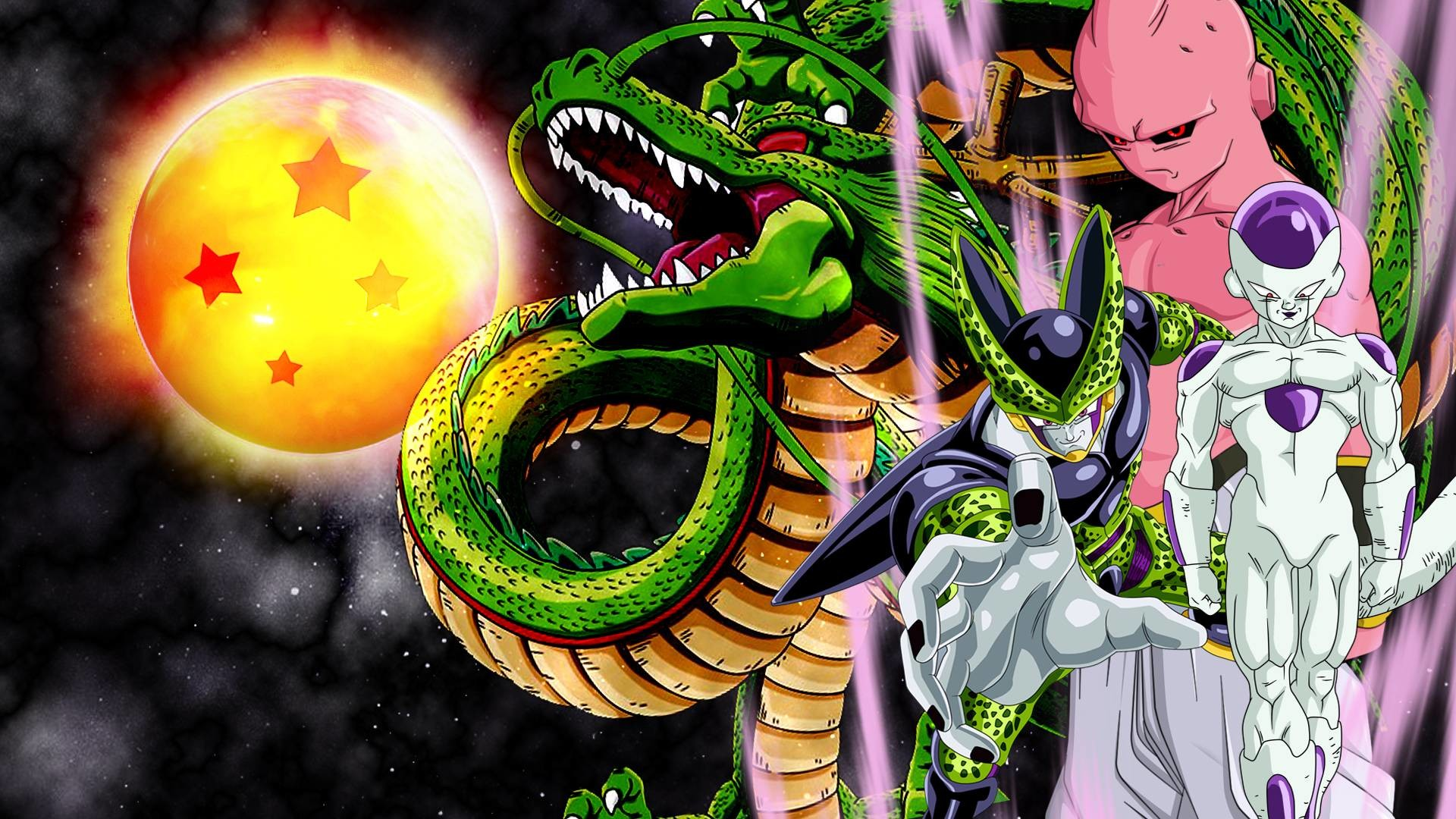 Frieza, cell and buu wallpaper by vuLC4no on DeviantArt