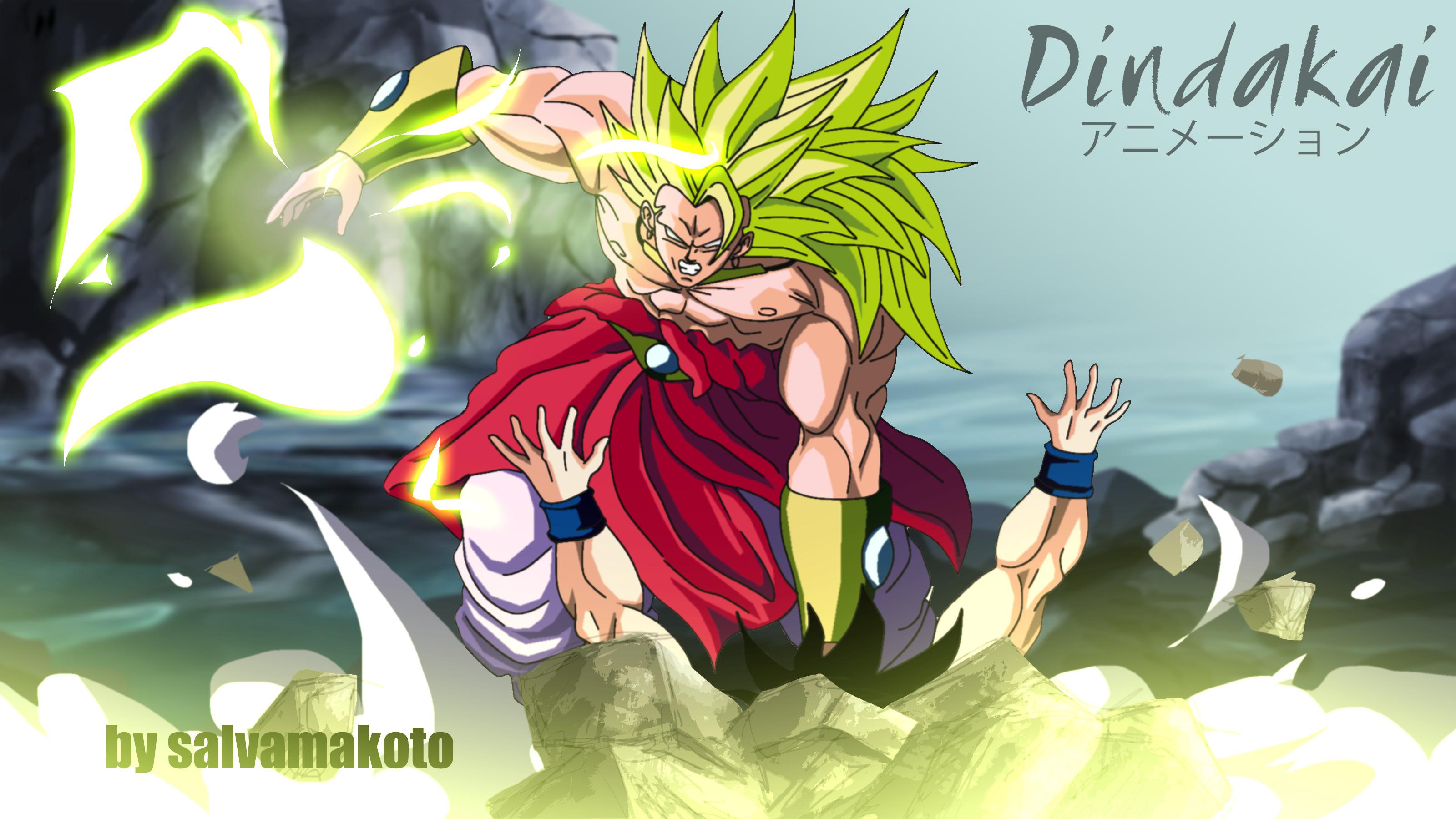 Broly ss3 vs Goku by dindakai on DeviantArt