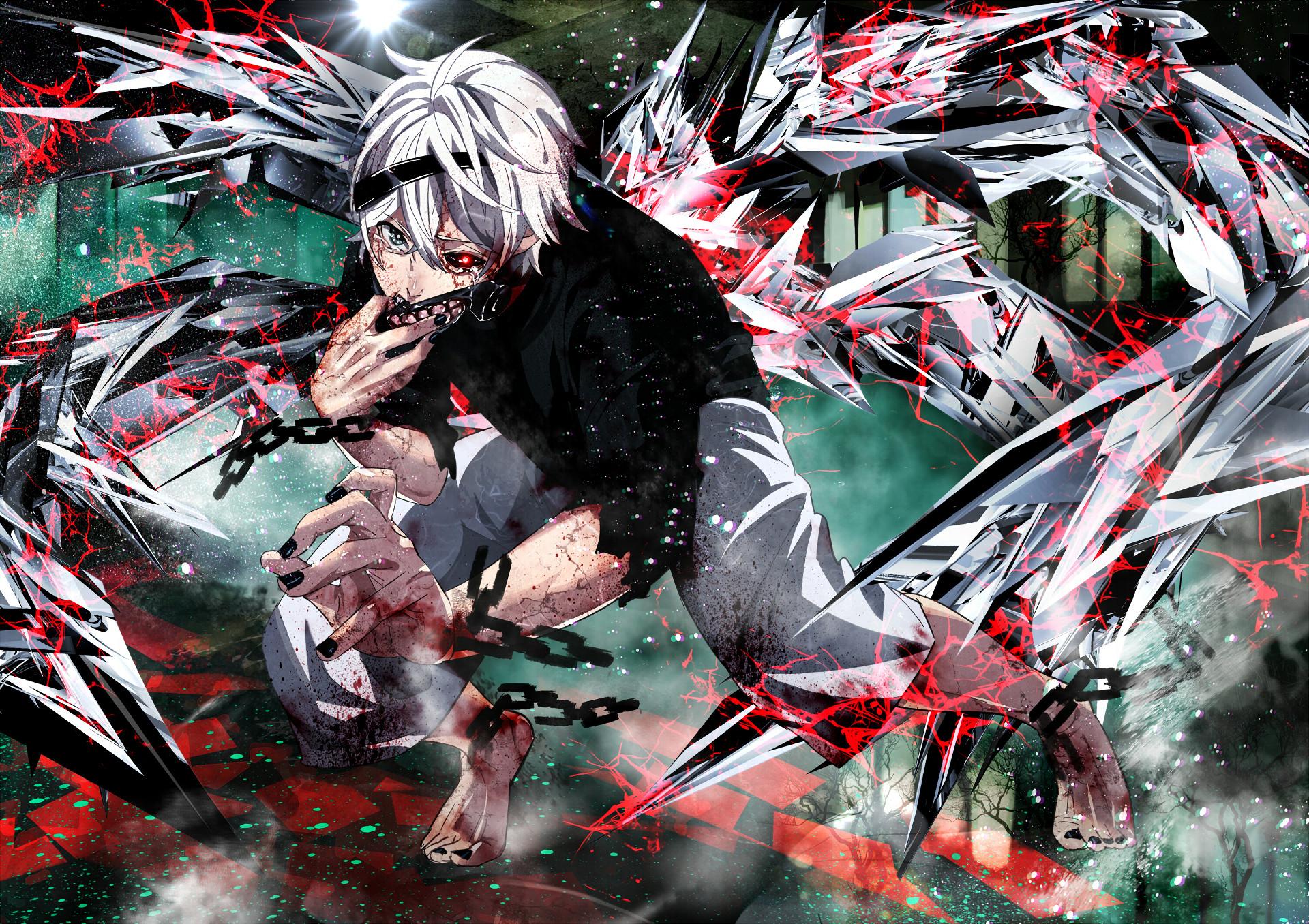 Anime Ken Kaneki Maske Tokyo Ghoul · HD Wallpaper   Hintergrund ID:596883
