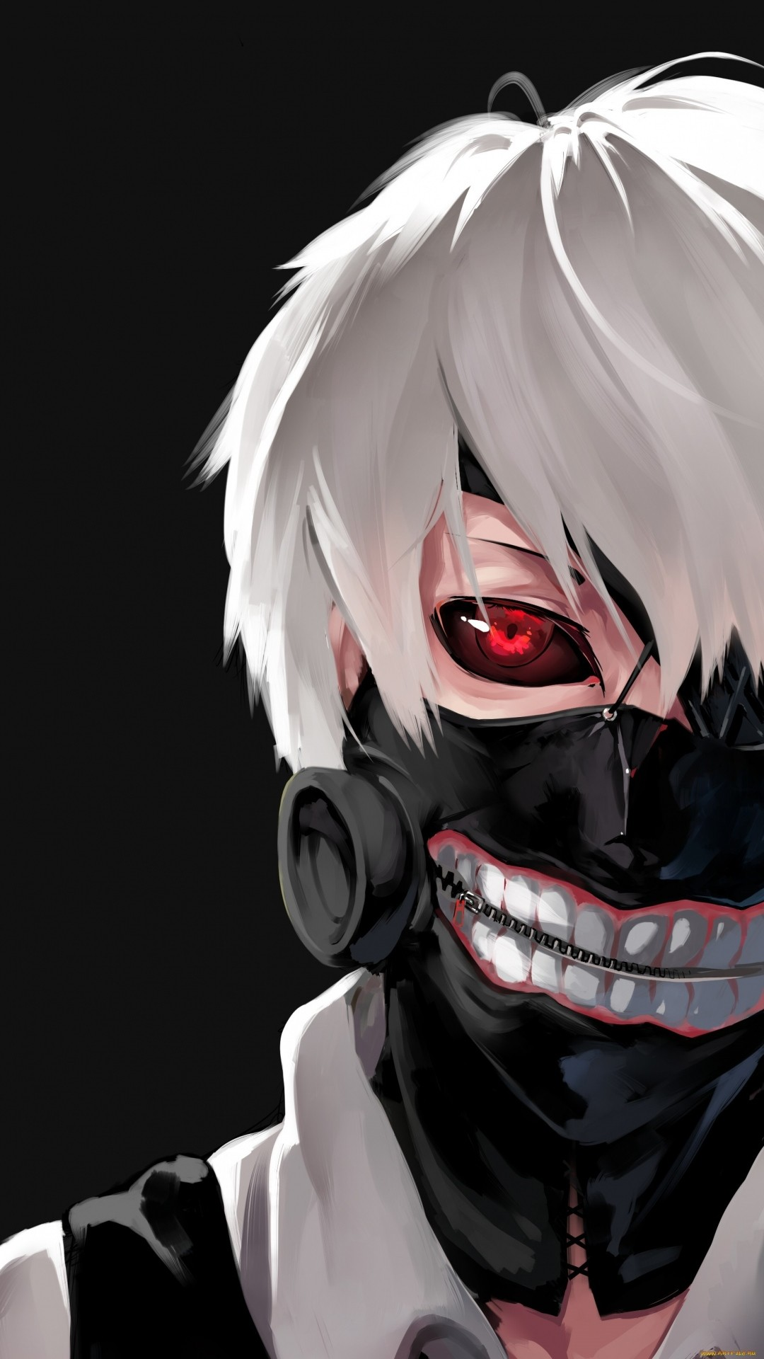 Preview wallpaper tokyo ghoul, kaneki ken, man, mask, face 1080×1920