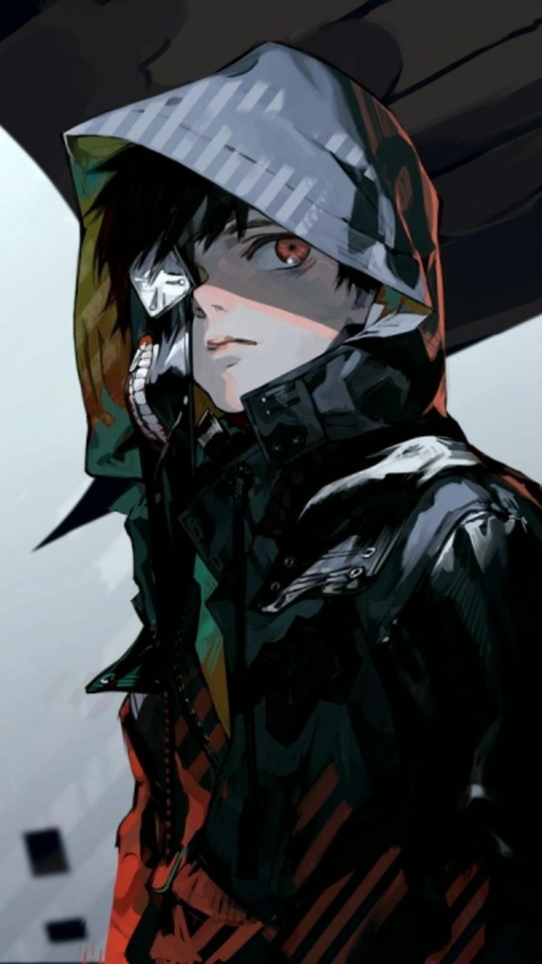 Preview wallpaper tokyo ghoul, kaneki ken, guys, art 1080×1920