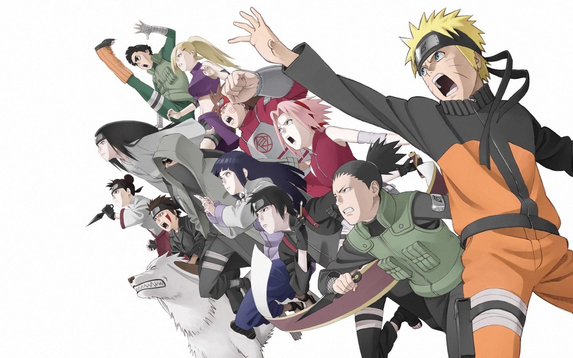 Ninjas Haruno Sakura Naruto: Shippuden Shikamaru Nara Hyuuga Hinata anime Rock  Lee Hyuuga Neji Choji Akimichi TenTen Sai Uzumaki Naruto Akamaru white …