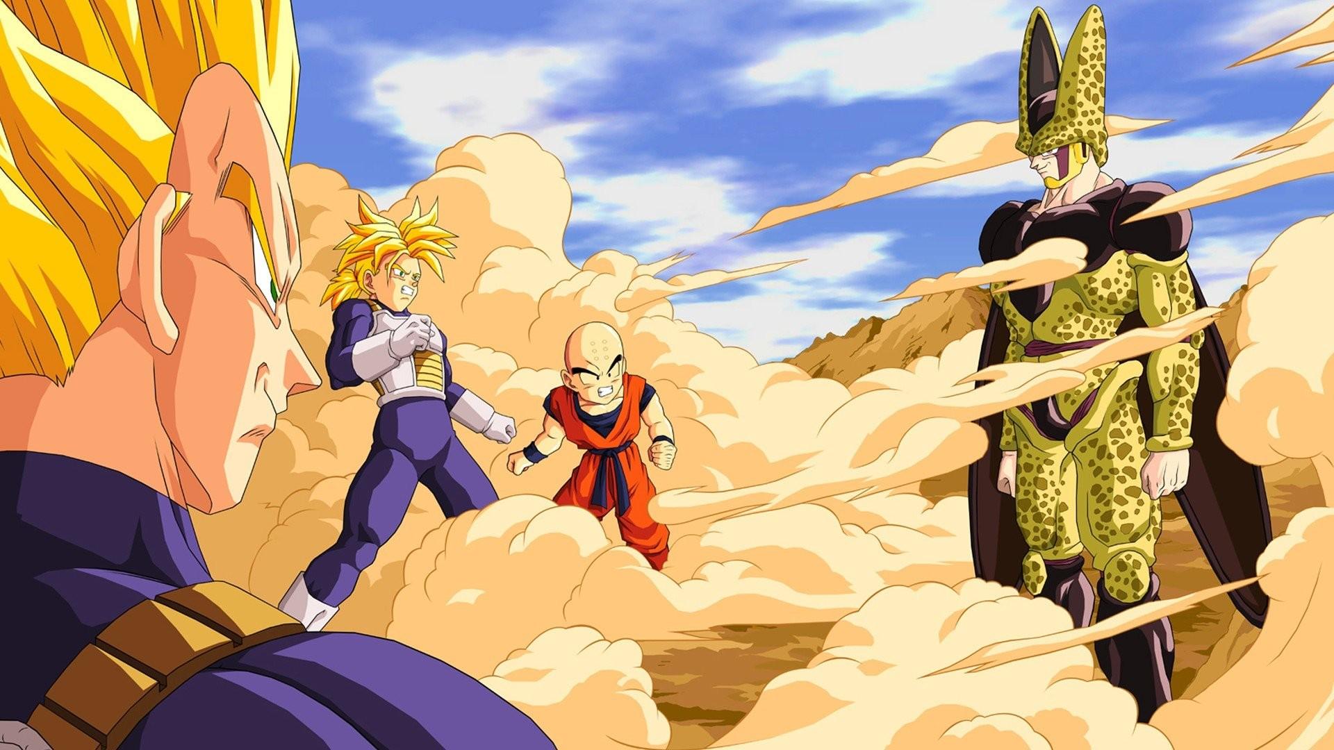 Dragon Ball Super Saiyan Cell Trunks Vegeta Krillin Perfect Anime
