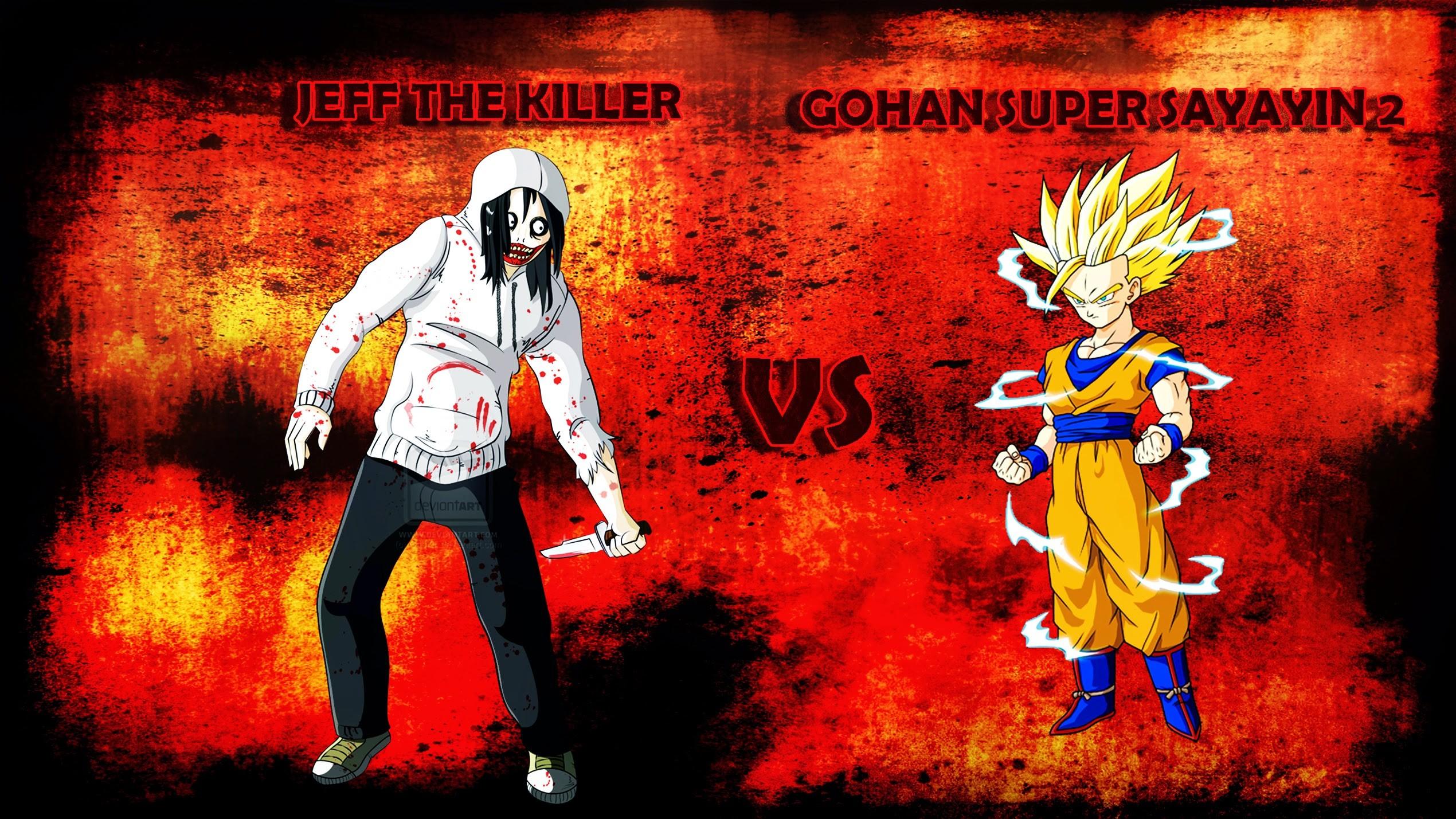… Jeff the Killer vs Gohan Super Saiyan 2 [Wallpaper by TheWolfRomeo