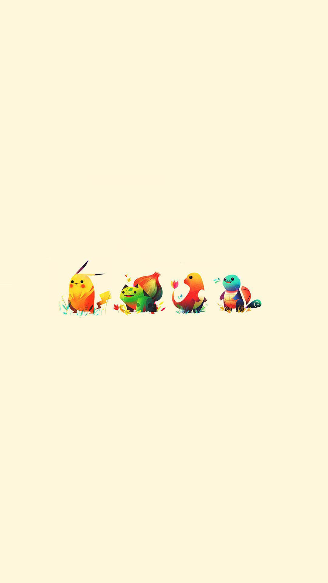 Pokemon Cute Illustration Minimal Android Wallpaper …