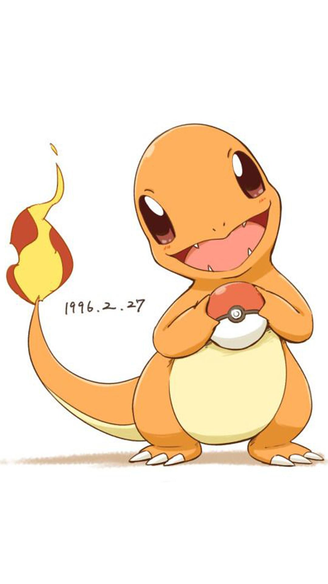 Charmander Pokemon Go iphone wallpaper ios 8