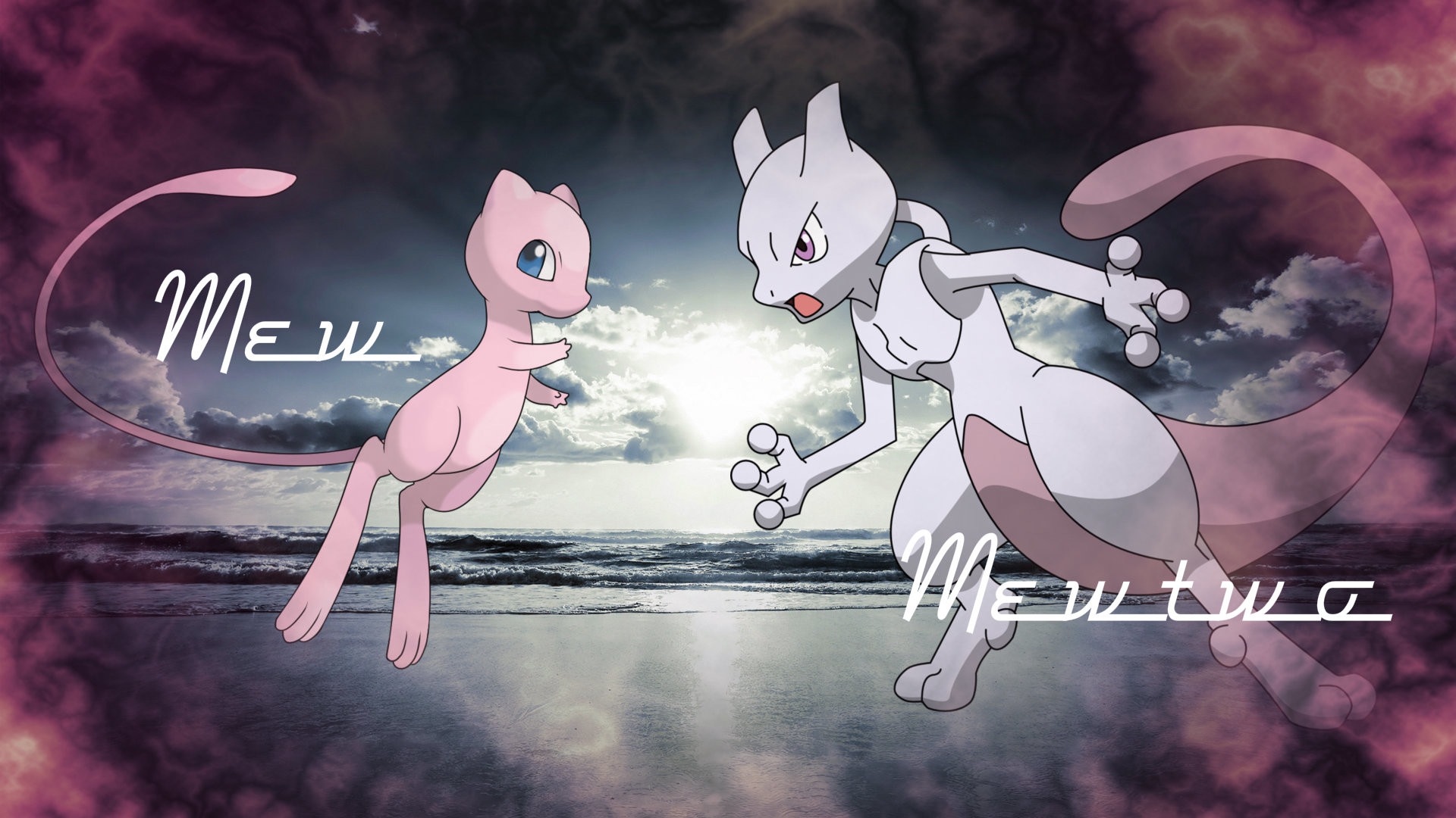 Displaying 20> Images For – Mew Vs Mewtwo Wallpaper.