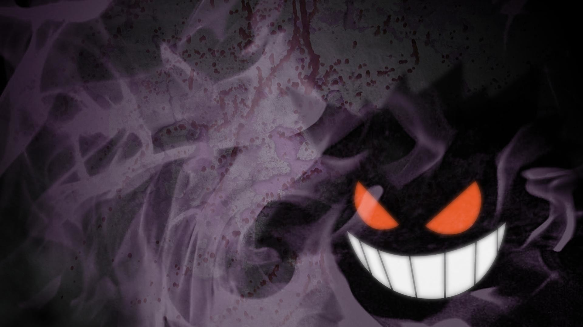 Got bored and threw together a Gengar wallpaper.