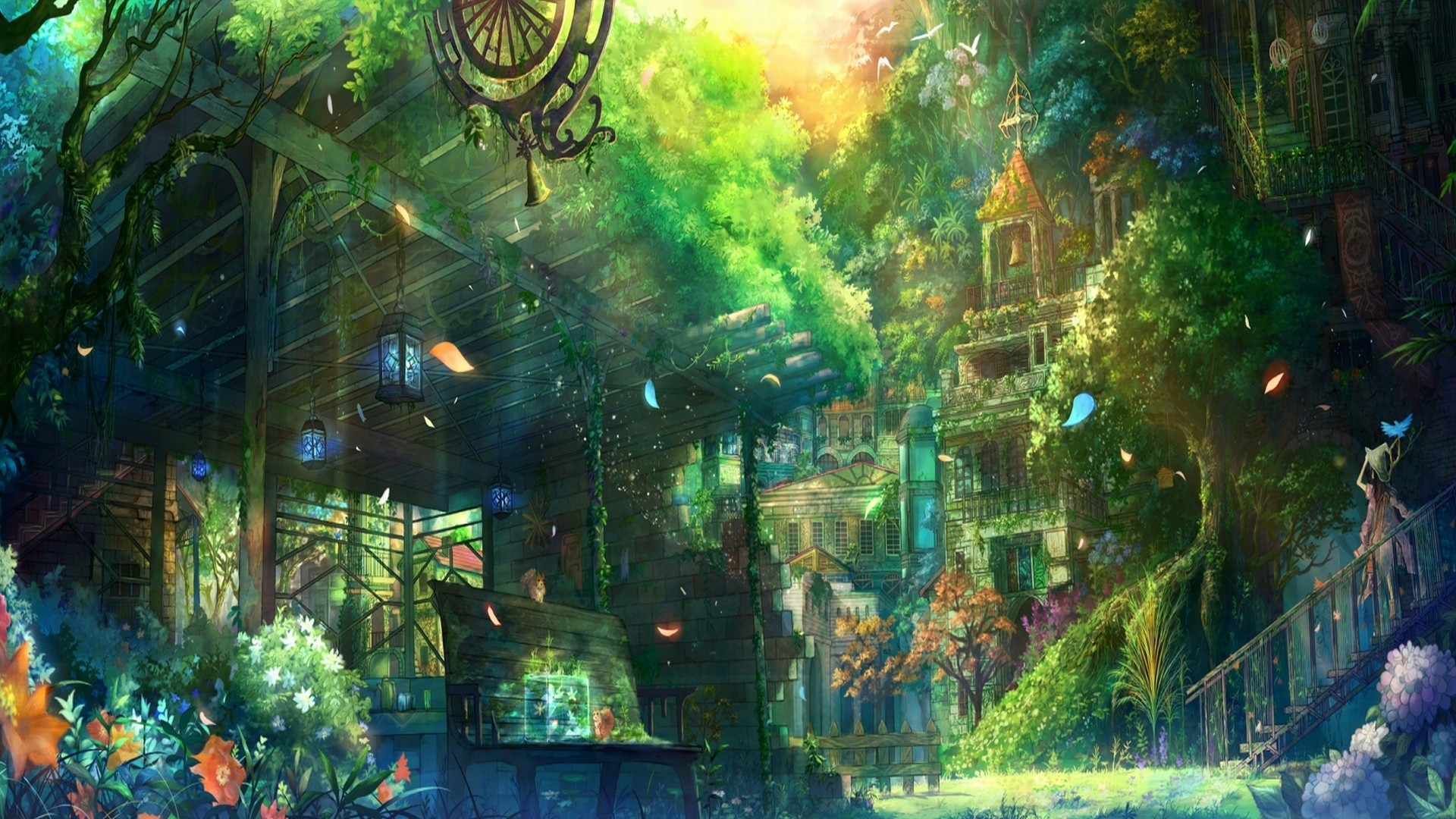 Anime City Scenery Wallpapers High Definition with High Definition Wallpaper  px 1.44 MB