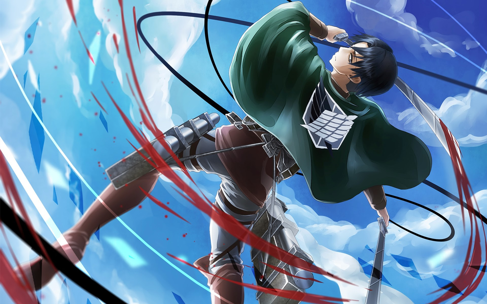 levi attack on titan shingeki no kyojin anime hd wallpaper .
