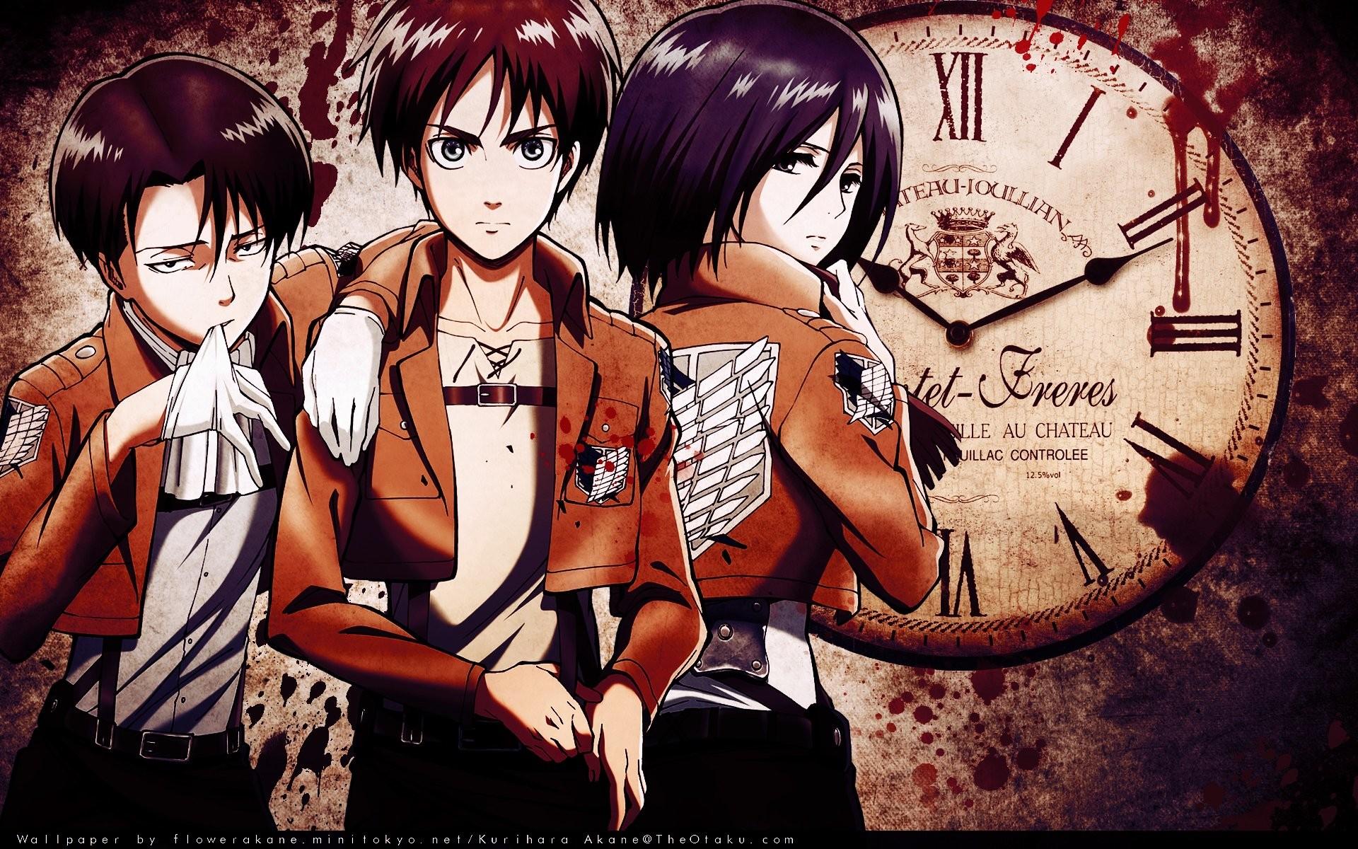 Anime – Attack On Titan Levi Ackerman Eren Yeager Mikasa Ackerman Wallpaper