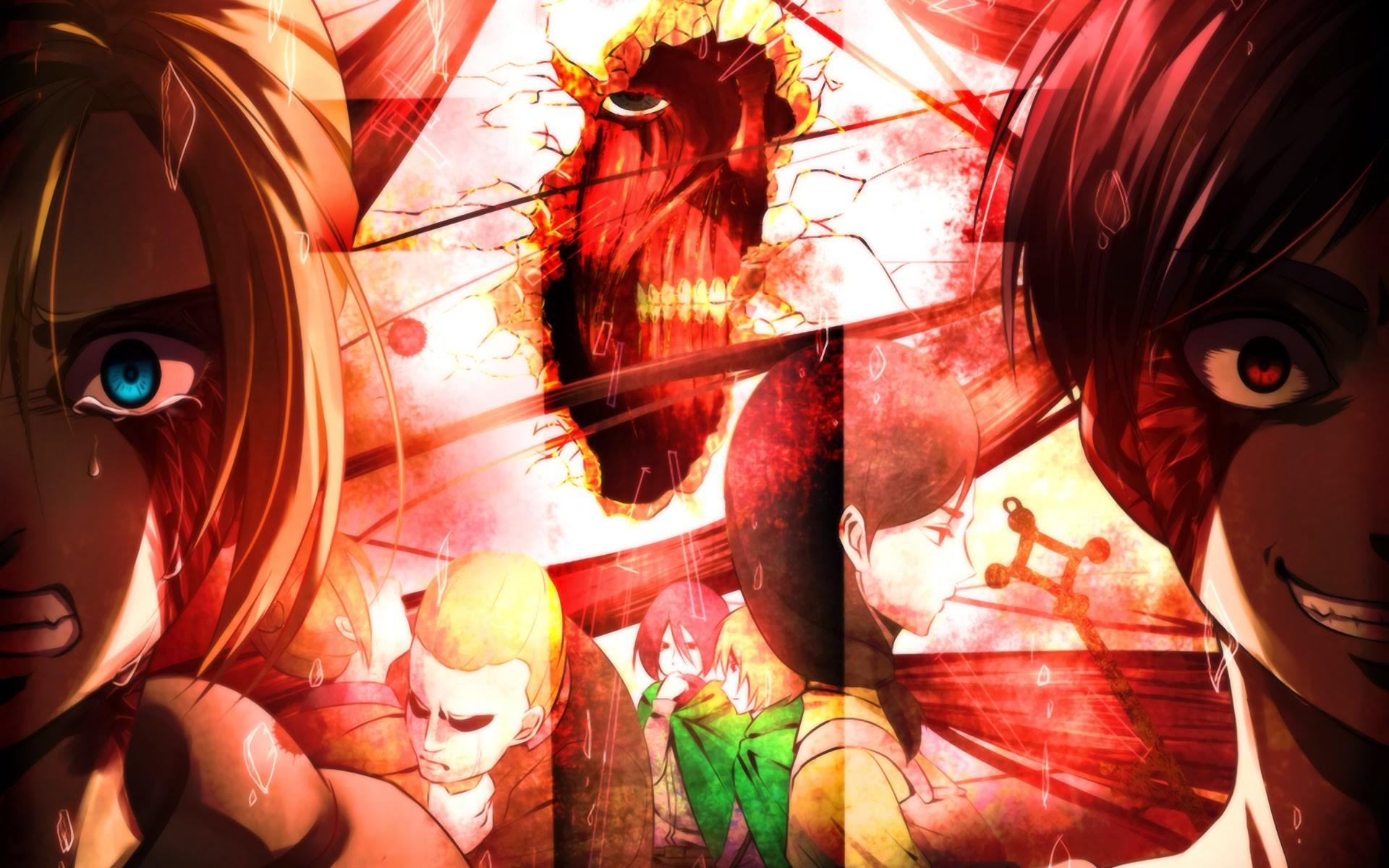 annie leonhart eren jaeger attack on titan shingeki no kyojin anime hd .
