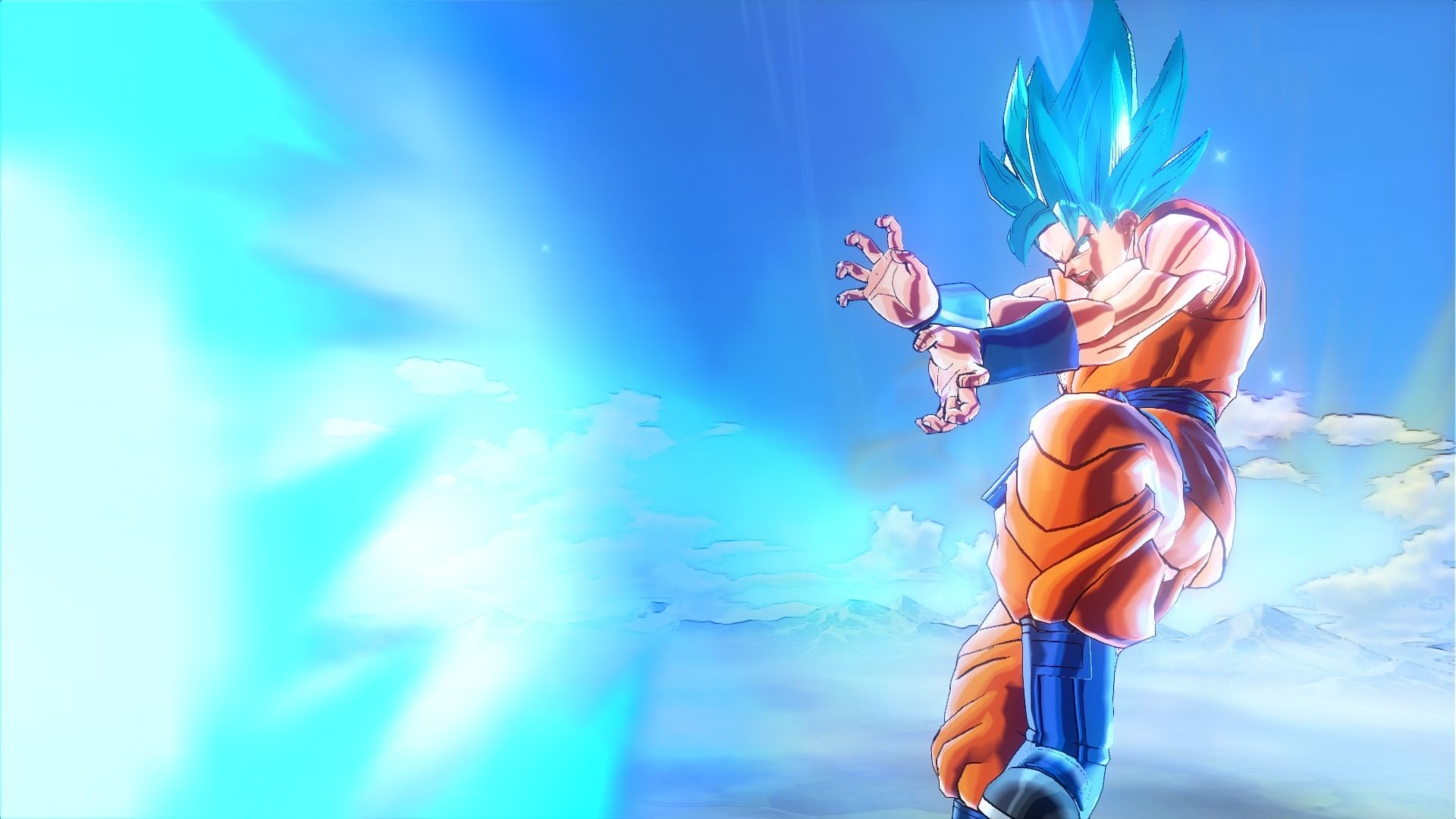 Super Saiyan God Super Saiyan Goku has the Ultimate Kamehameha, Golden  Frieza uses the Emperor's Death Beam technique, and Super Saiyan God Super  Saiyan …