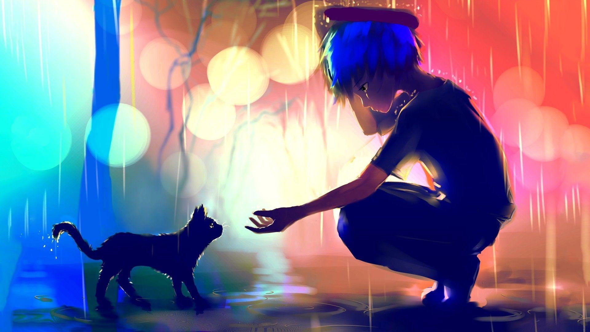 Black cat boy anime