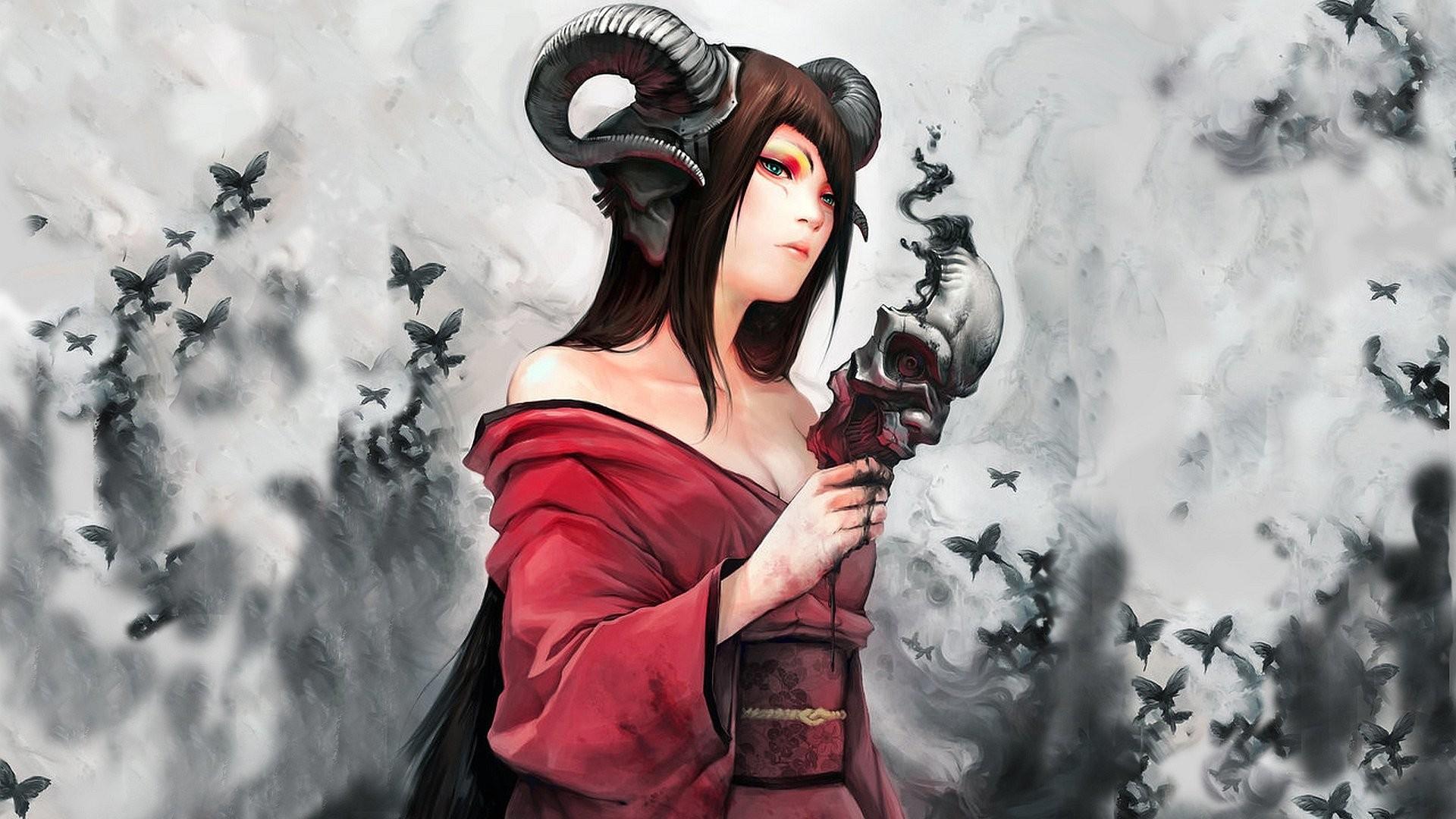 Z wallpaper horned girl