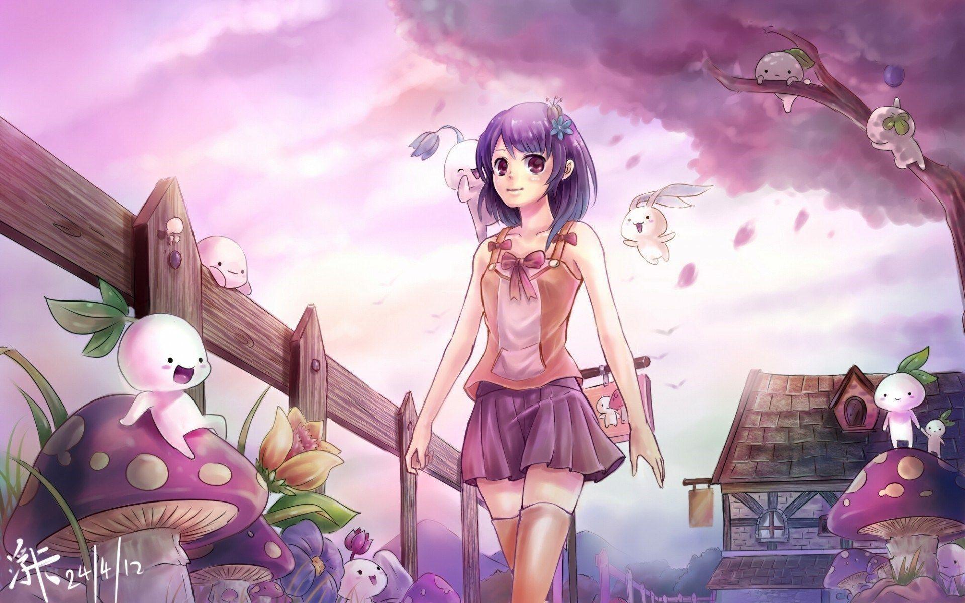 Cute Anime Hd Wallpaper   Wallpaper Color