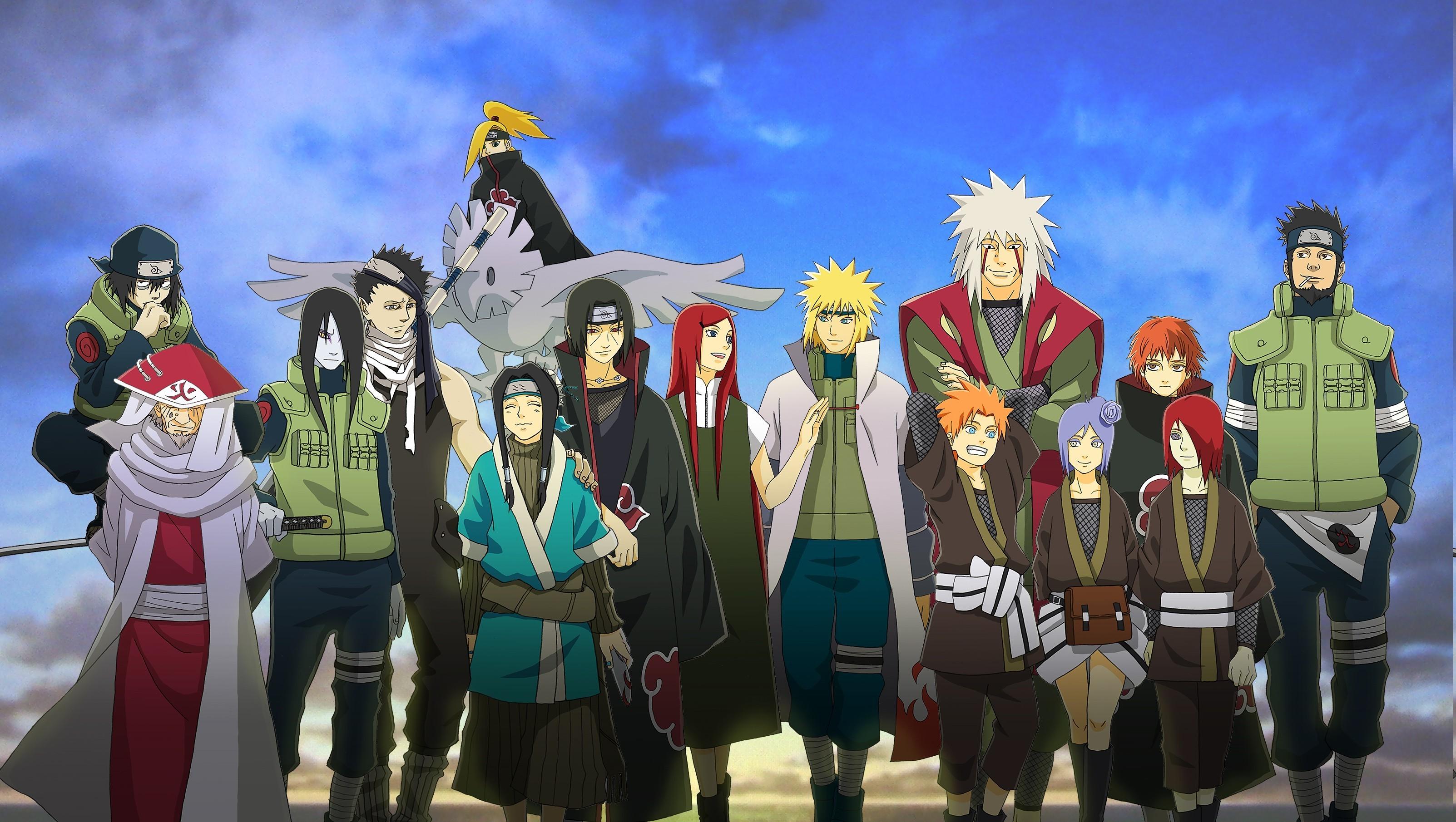 Naruto Shippuuden, Anime, Sasori, Jiraiya, Haku, Deidara, Hokage, Orochimaru