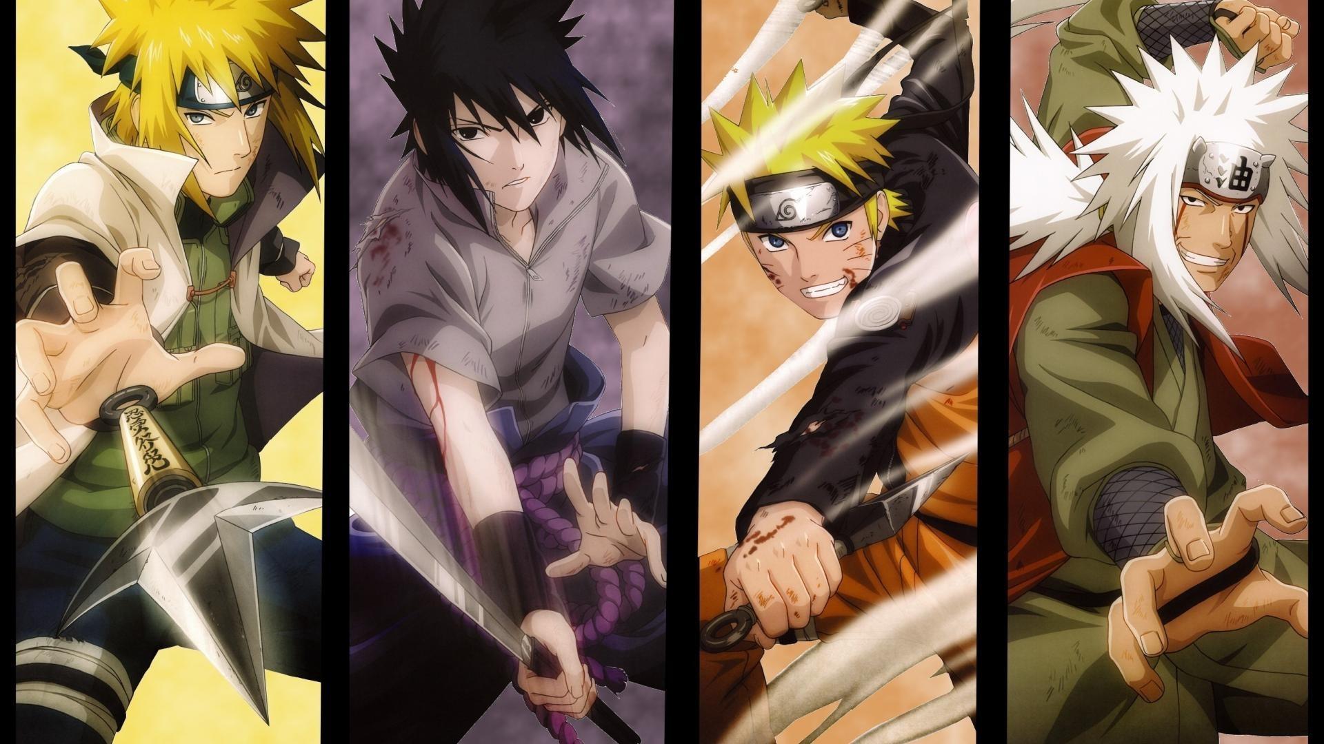 Naruto Shippuuden, Hokage, Anime, Namikaze Minato, Uchiha Sasuke, Uzumaki  Naruto, Jiraiya, Panels Wallpapers HD / Desktop and Mobile Backgrounds