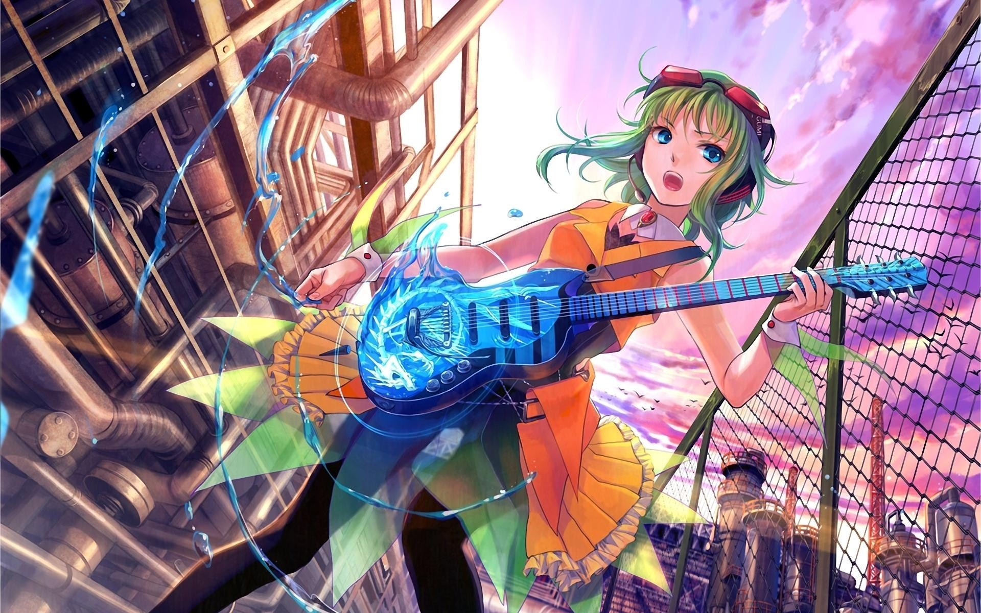 Anime Girl Guitar Music Art HD Wallpaper – FreeHDWalls