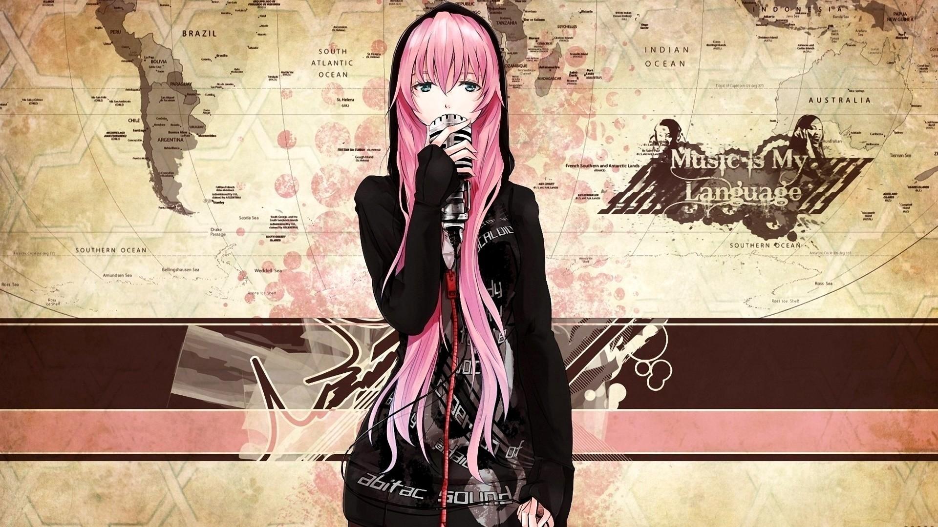 Music Anime Girl Desktop Wallpaper