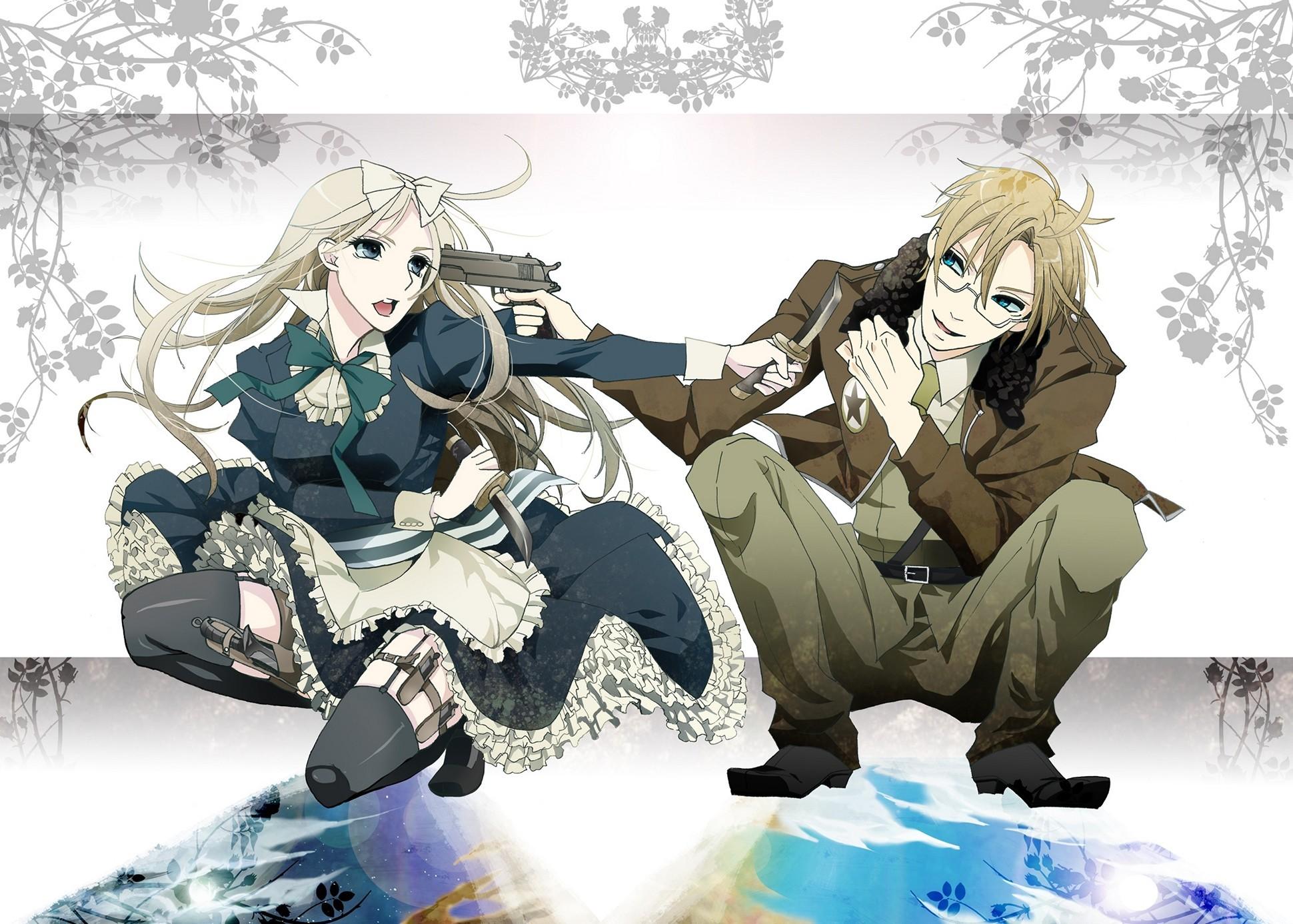 Hetalia Axis Powers Boy Girl Threats Weapons Inspired Anime Music Wallpaper