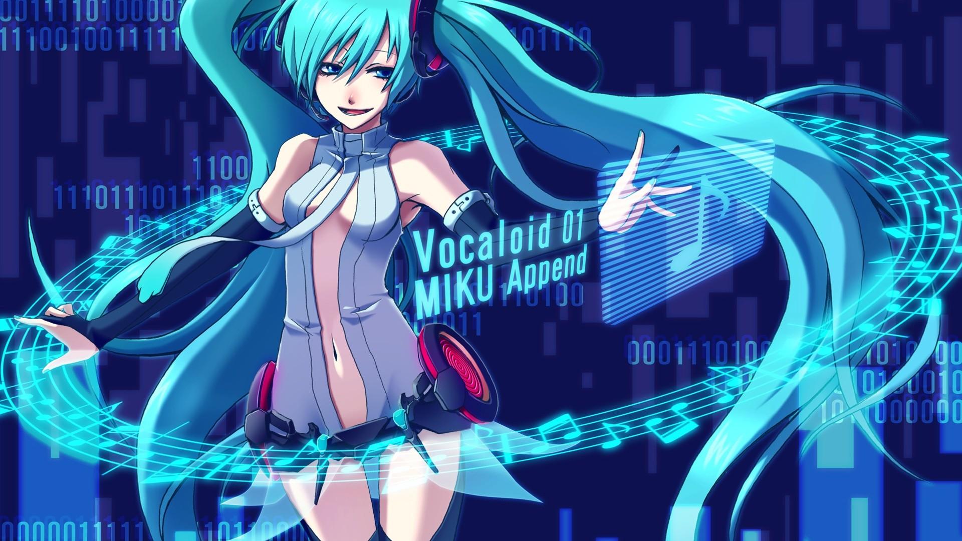 Hatsune Miku, Musik, blauen Haaren anime girl, Miku Append  Hintergrundbilder – Full