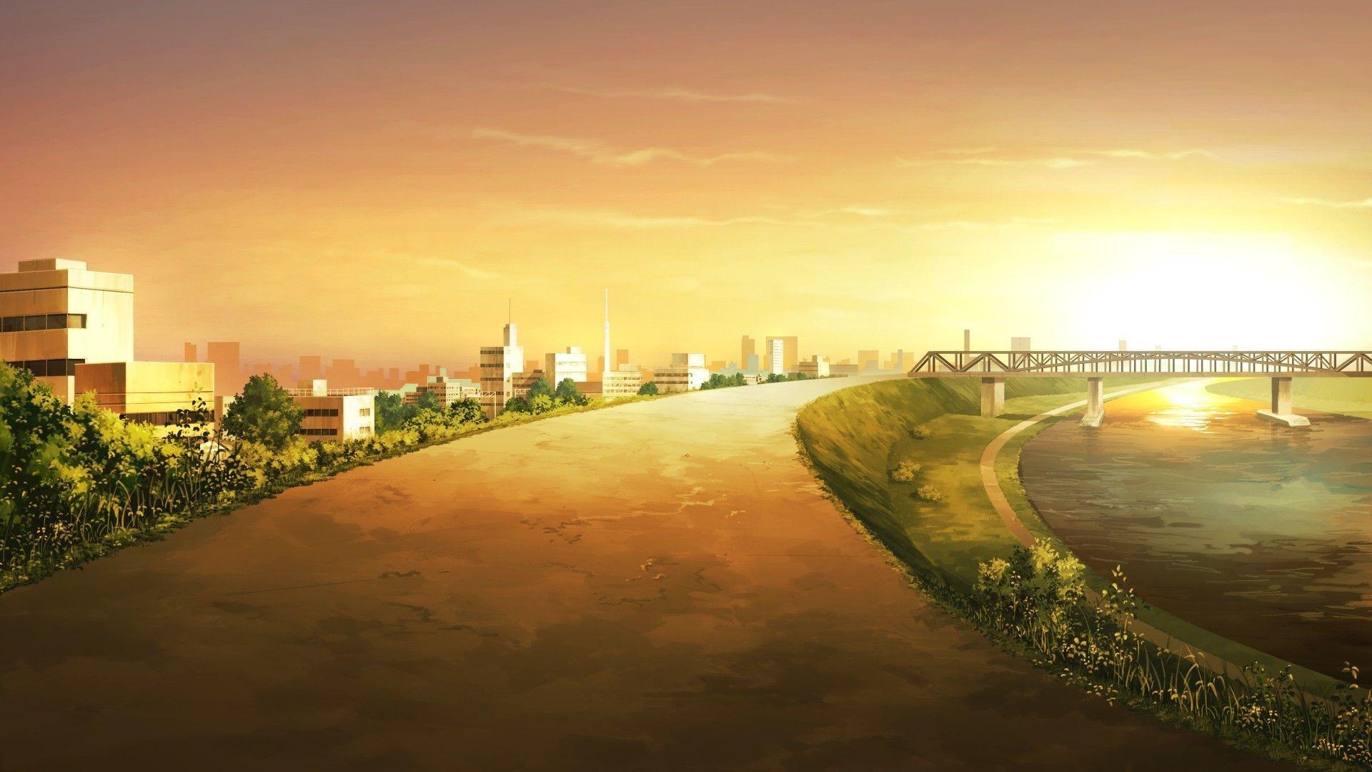 Anime City Desktop Wallpaper 50841