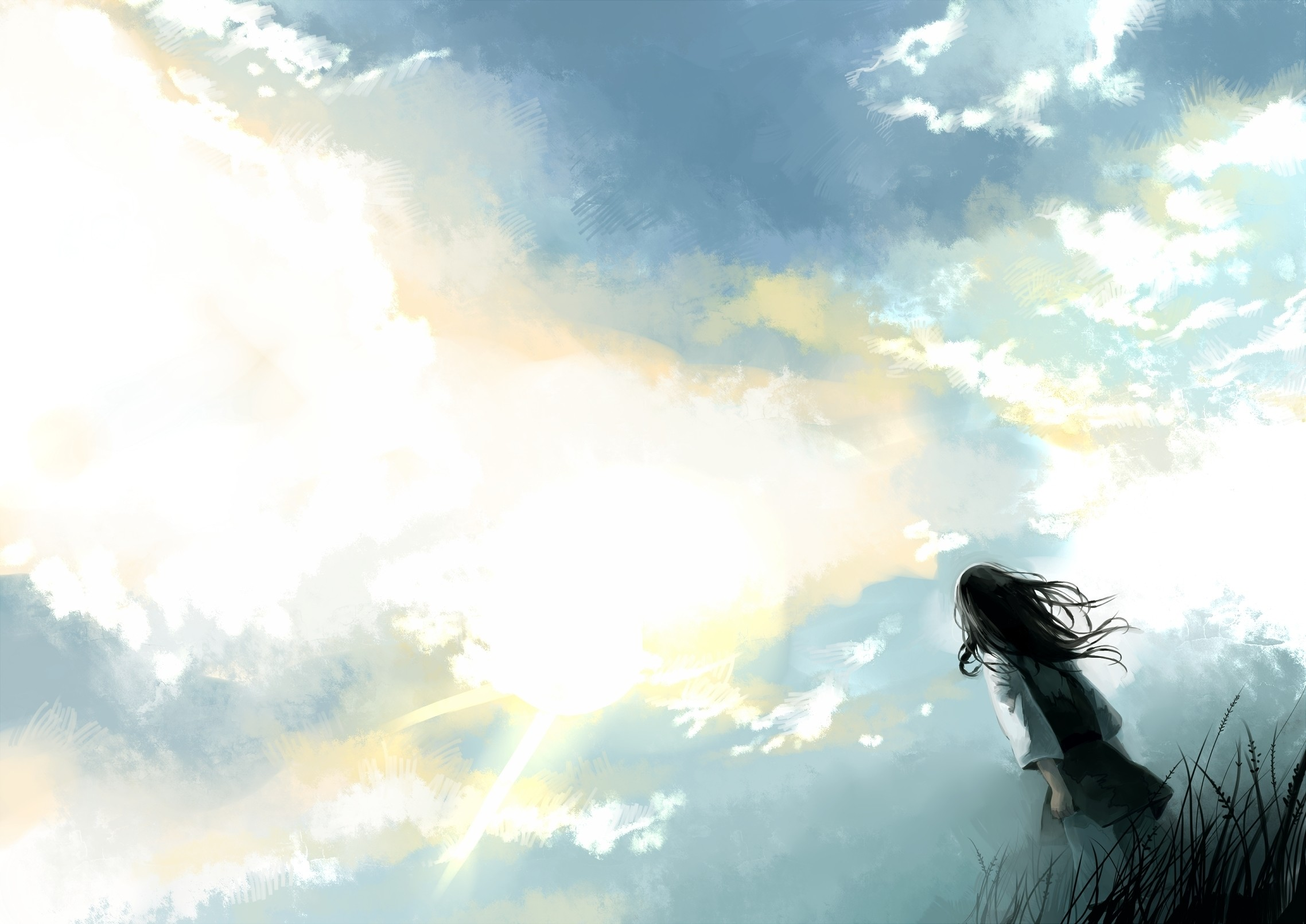 Sky Cloud Anime Desktop Wallpaper Images #08145 px 1.46 MB Anime  Sky Cloud Anime
