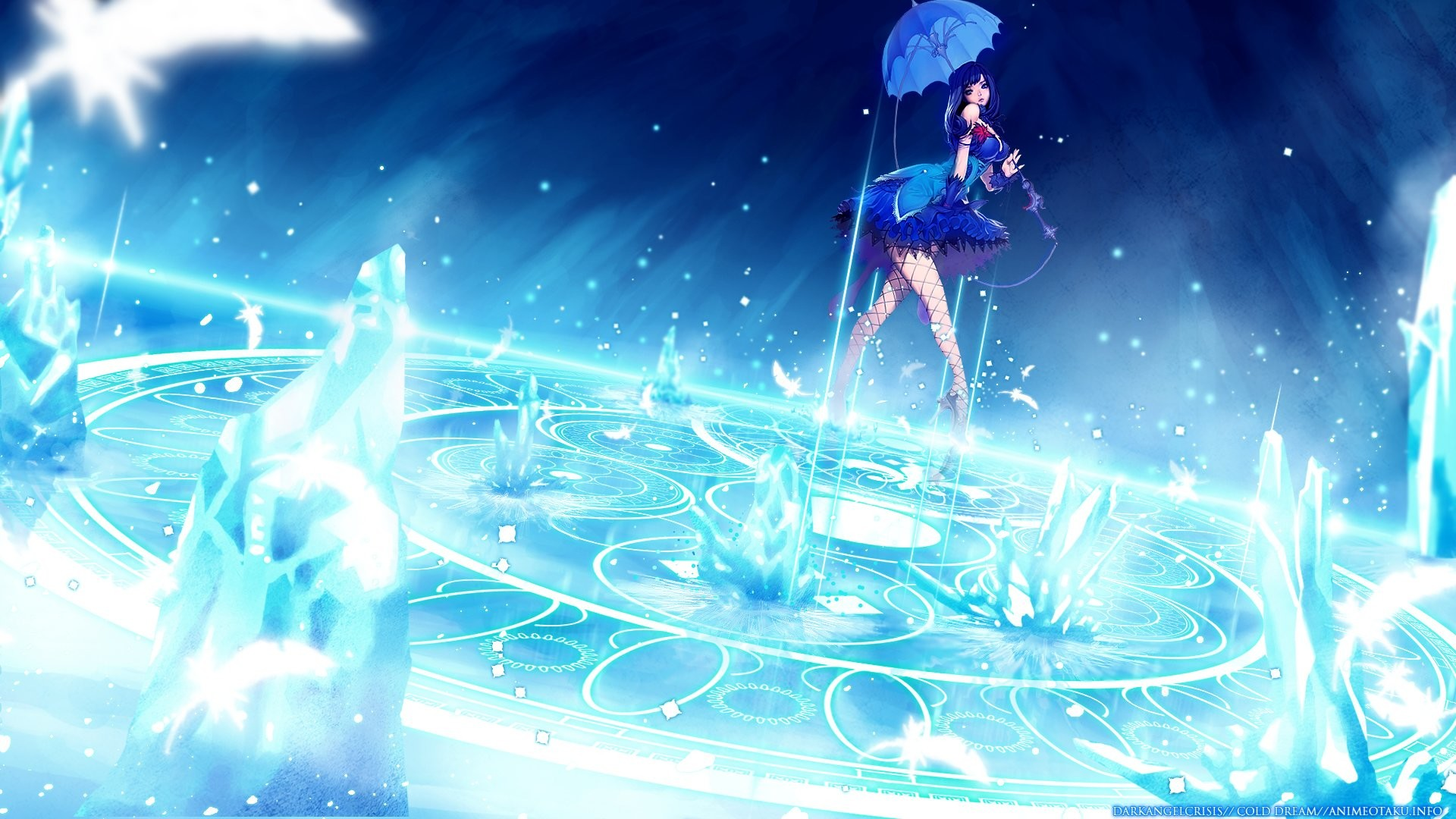 Blue Anime Girl Music HD Desktop Wallpaper Free Wallpaper