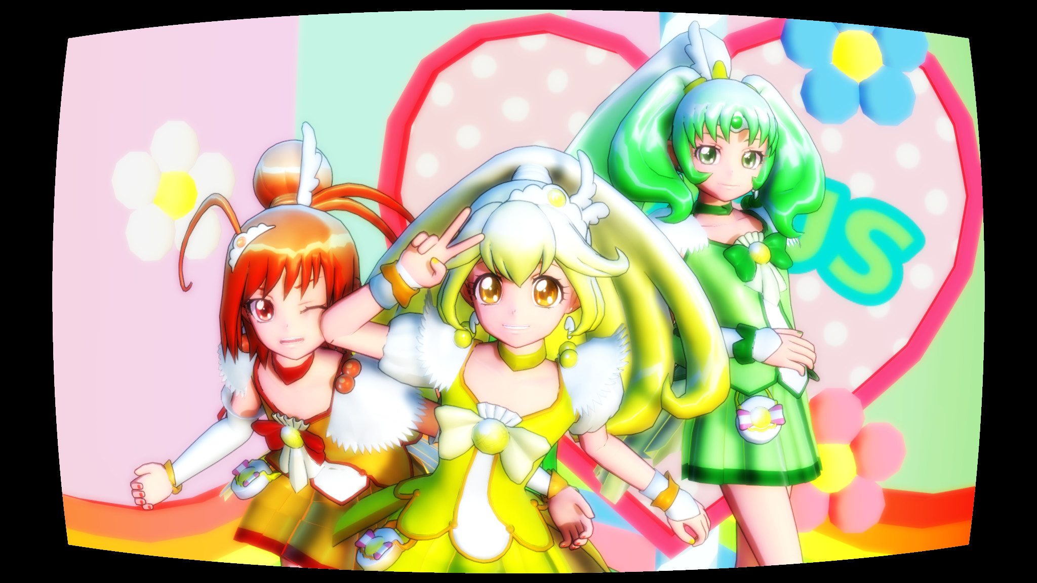 MMD] Glitter Force… Um…what is her name ?