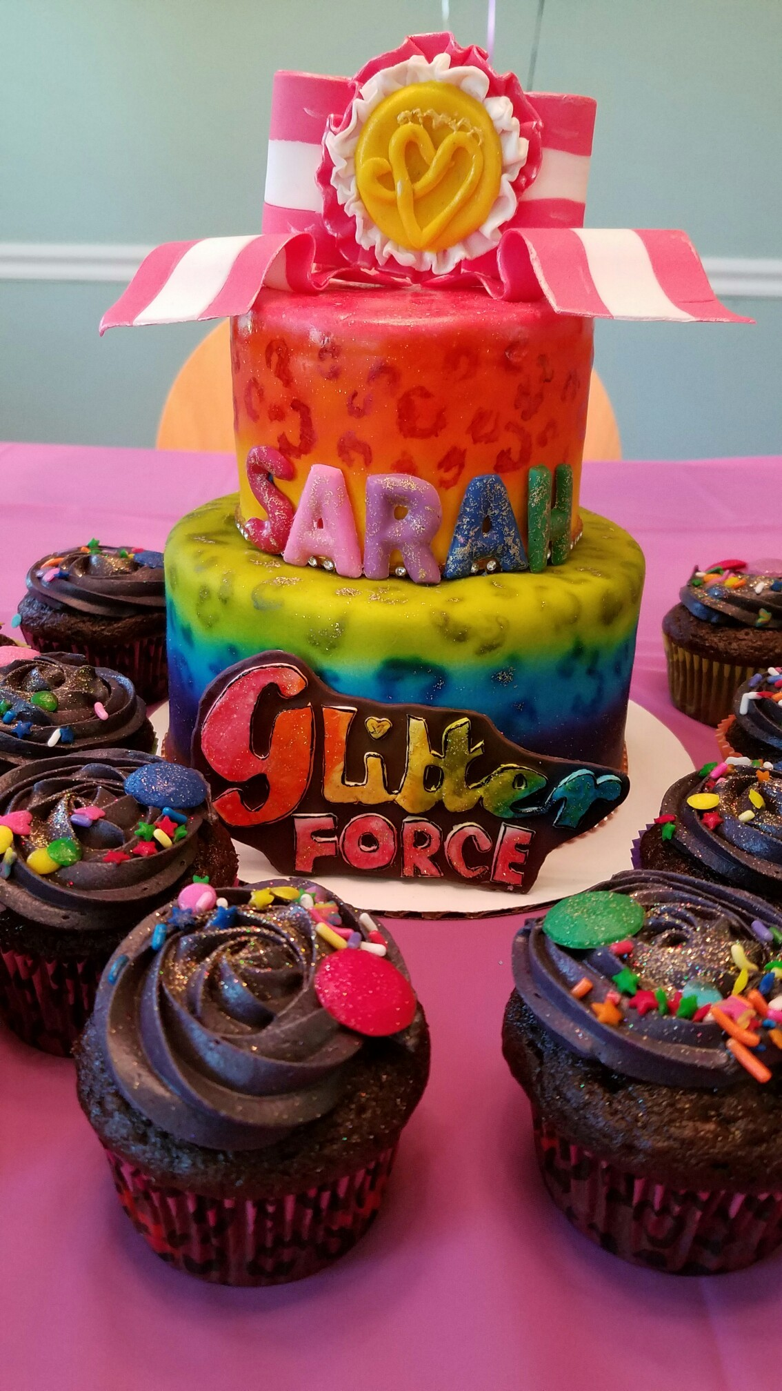 Glitter force cake