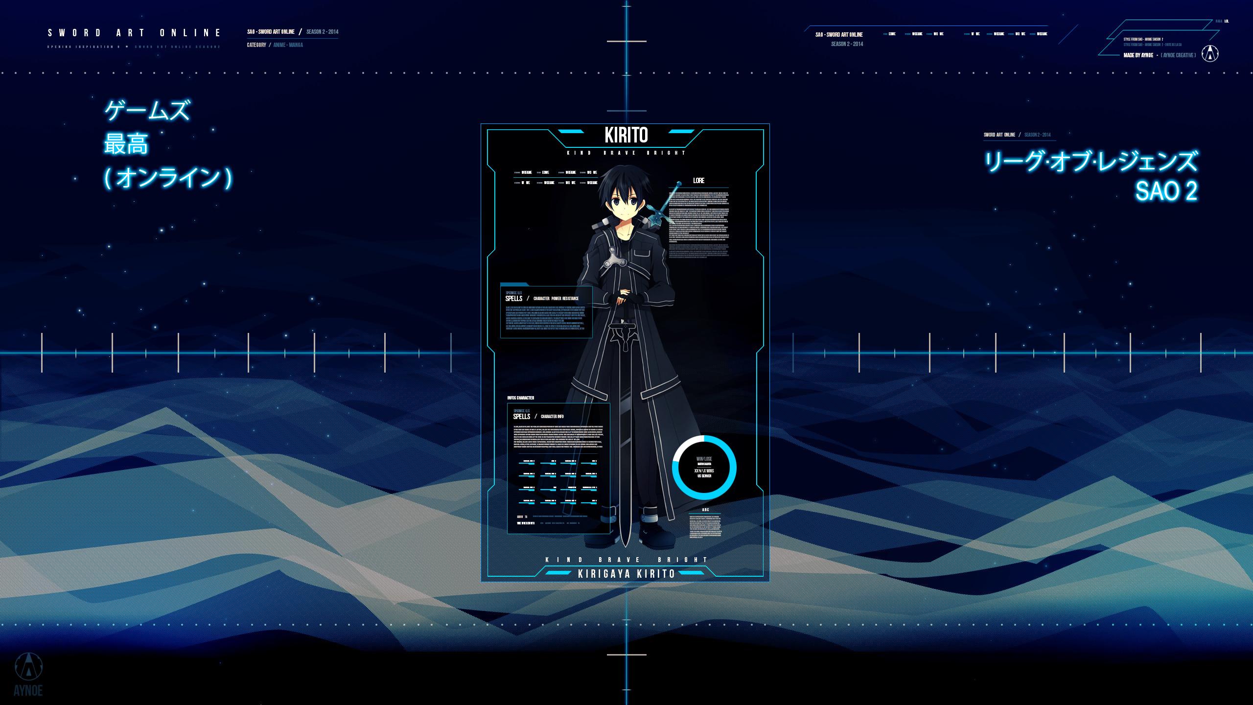 … Kirito – Sword Art Online – Wallpaper by Aynoe