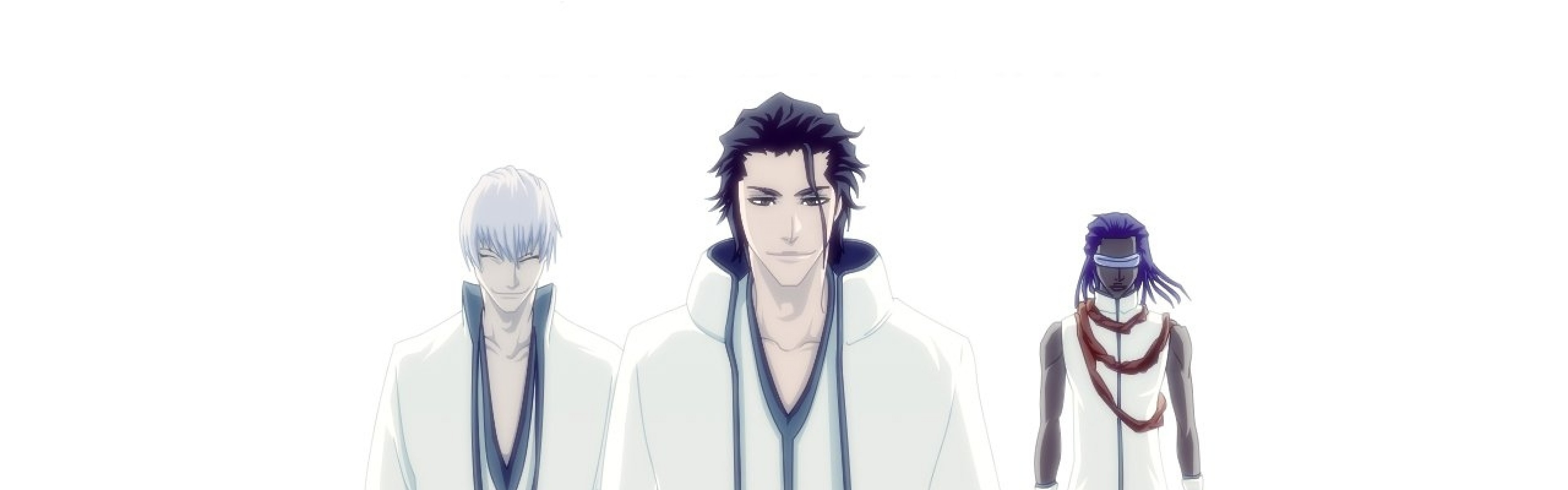 Wallpaper bleach, ichimaru gin, aizen sousuke, tousen kaname,  boys, clothes